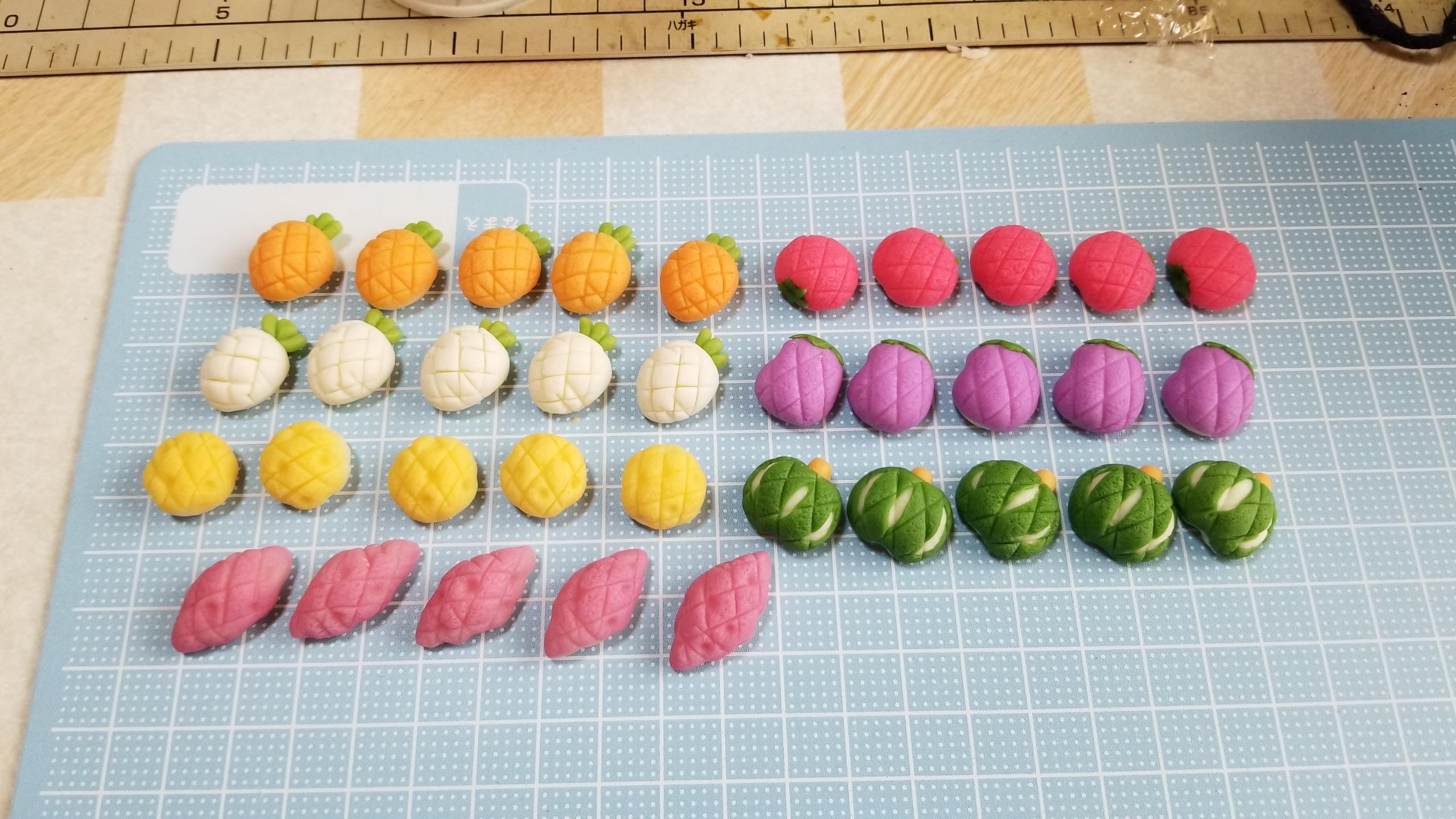 野菜メロンパン,ミニチュアフード,食品サンプル,シルバニア,オビツ11