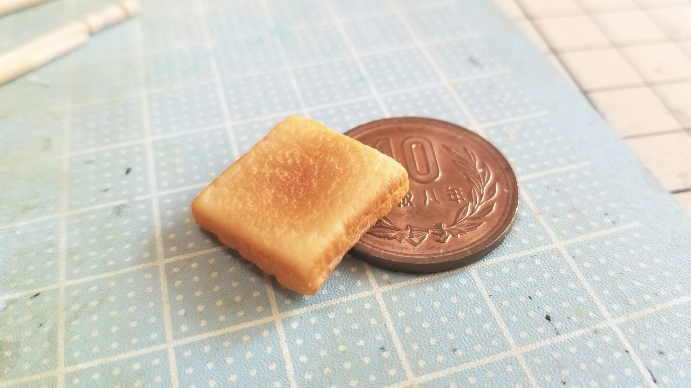ミニチュアフードのトースト食パンぱん,樹脂粘土作り方,おすすめ