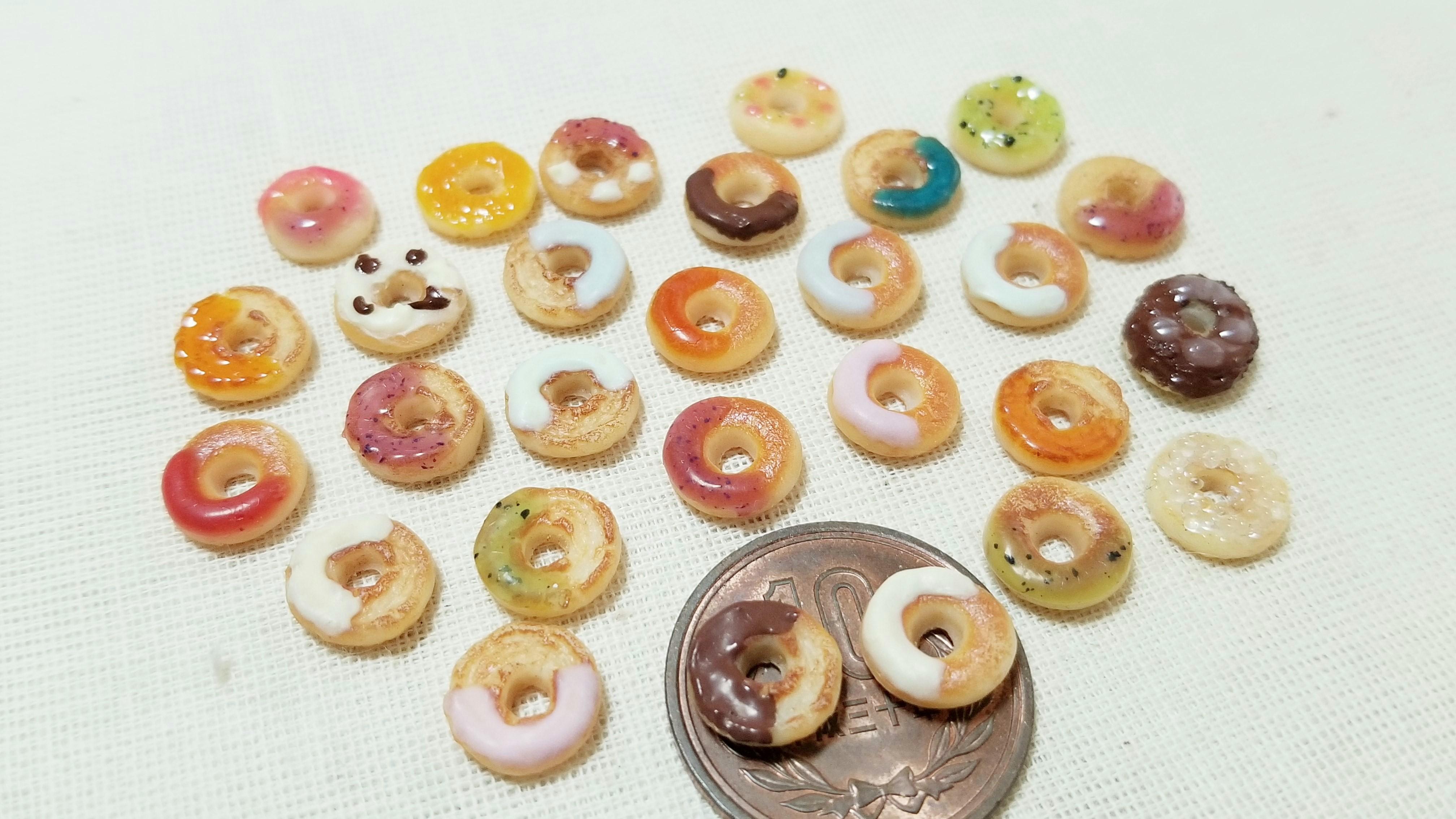 ミニチュアフードドーナツの作り方樹脂粘土かわいい作品アートお菓子