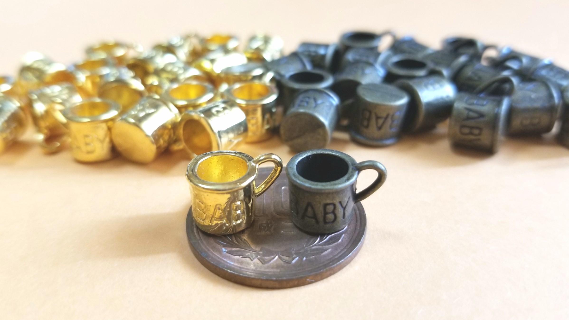 マグカップのチャーム,金古美,ゴールド,ミニサイズ,道具材料,購入