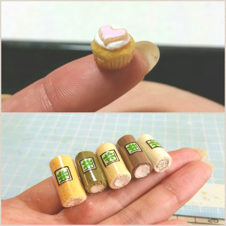かわいい小さな小さい,おしゃれなロールケーキ,ドール用小物ブログ