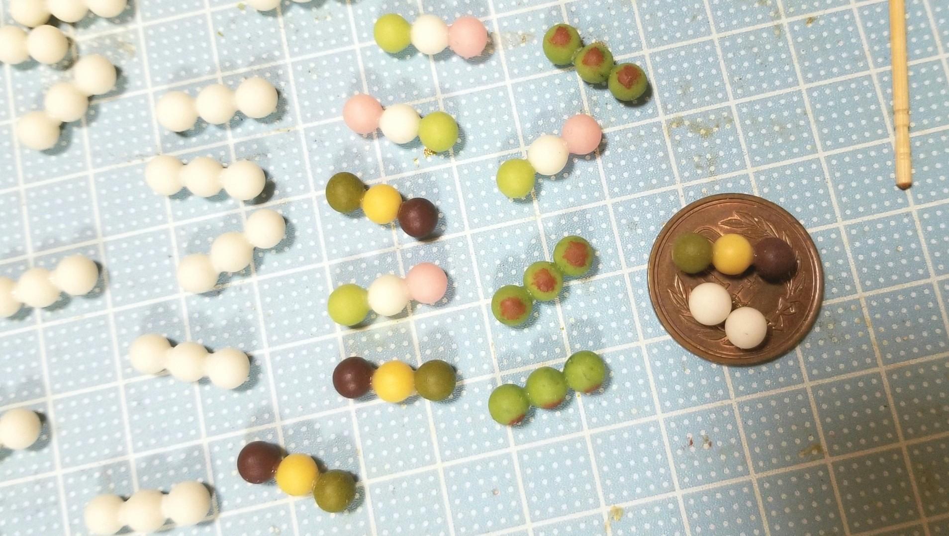 よもぎのミニチュアフードブログ,おいしい串団子の作り方,おすすめ