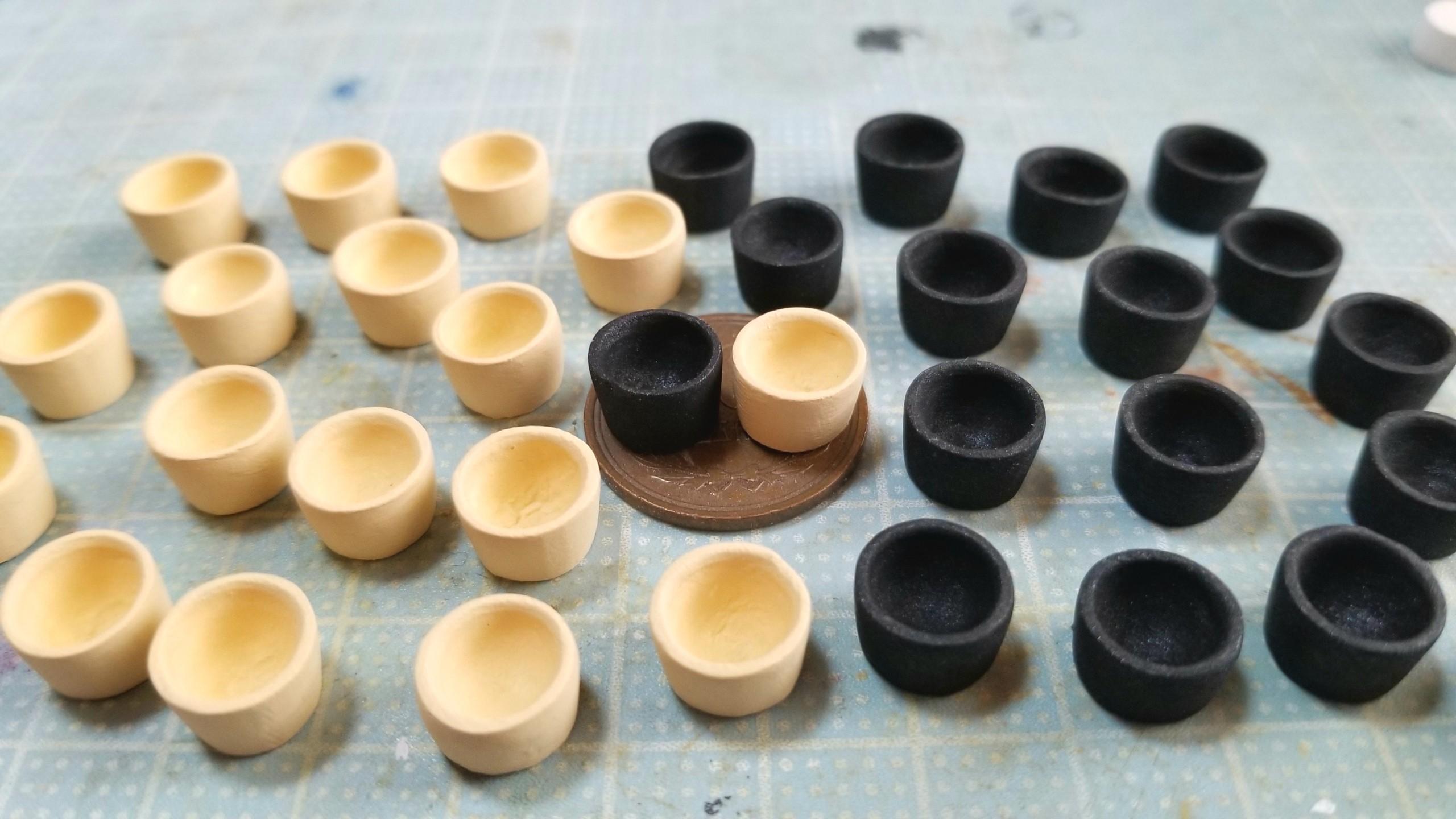 ミニチュアフード,湯呑みの作り方,抹茶,石塑粘土,初心者のための応用