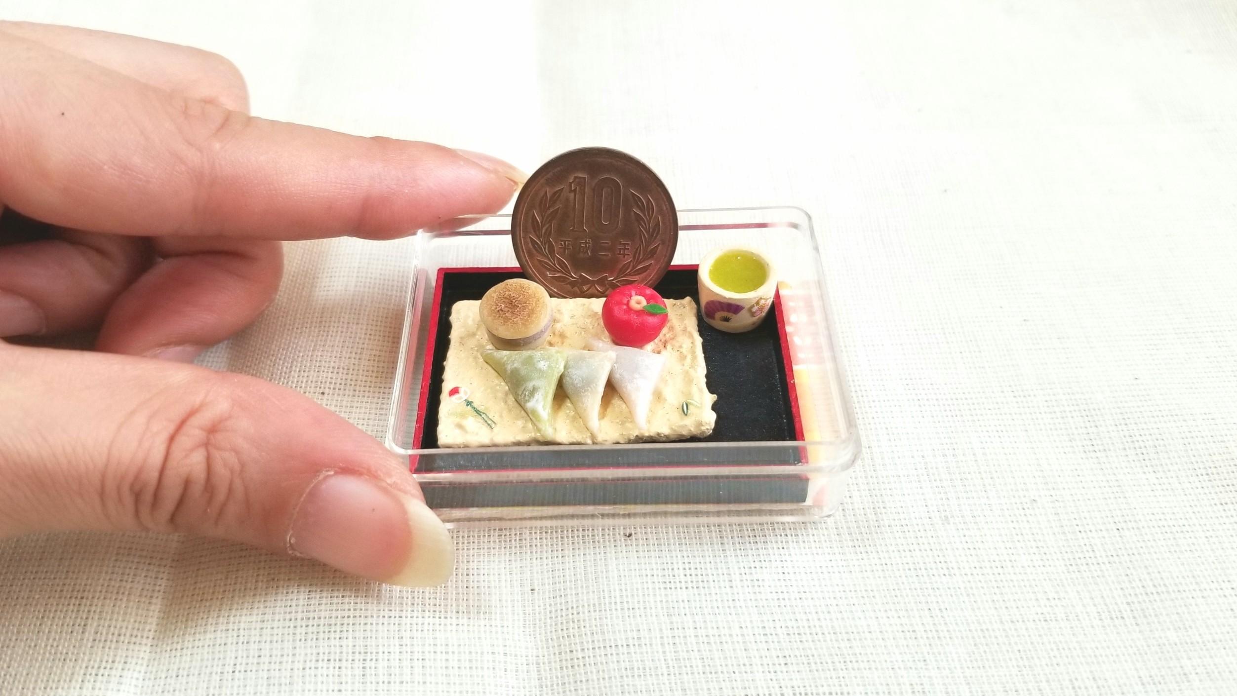 和菓子,生八ツ橋,ミニチュアフード,樹脂粘土,ドールハウス,和風小物