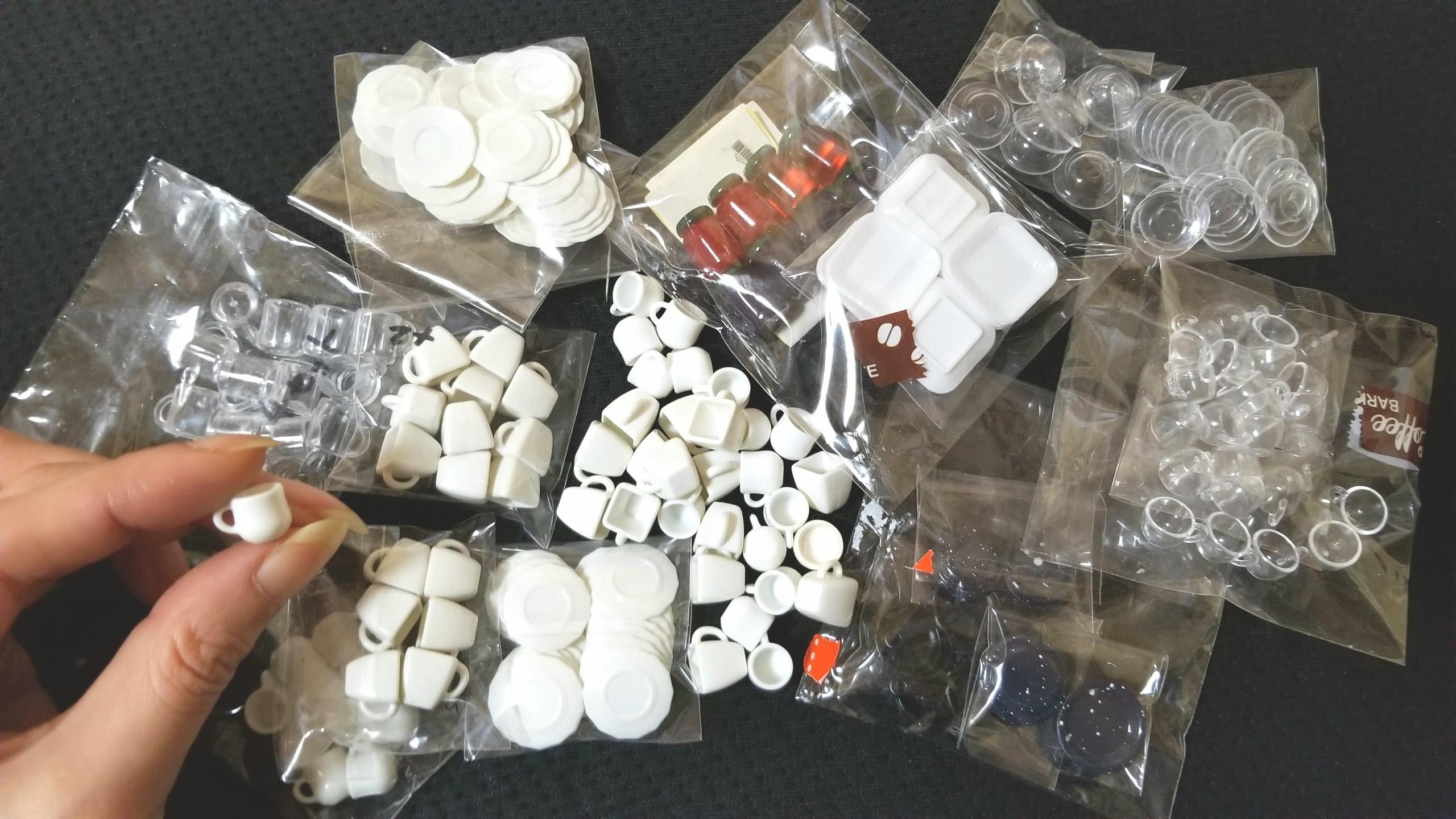 ミニチュアフード,使う道具や材料,コップグラスお皿食器,ブログ