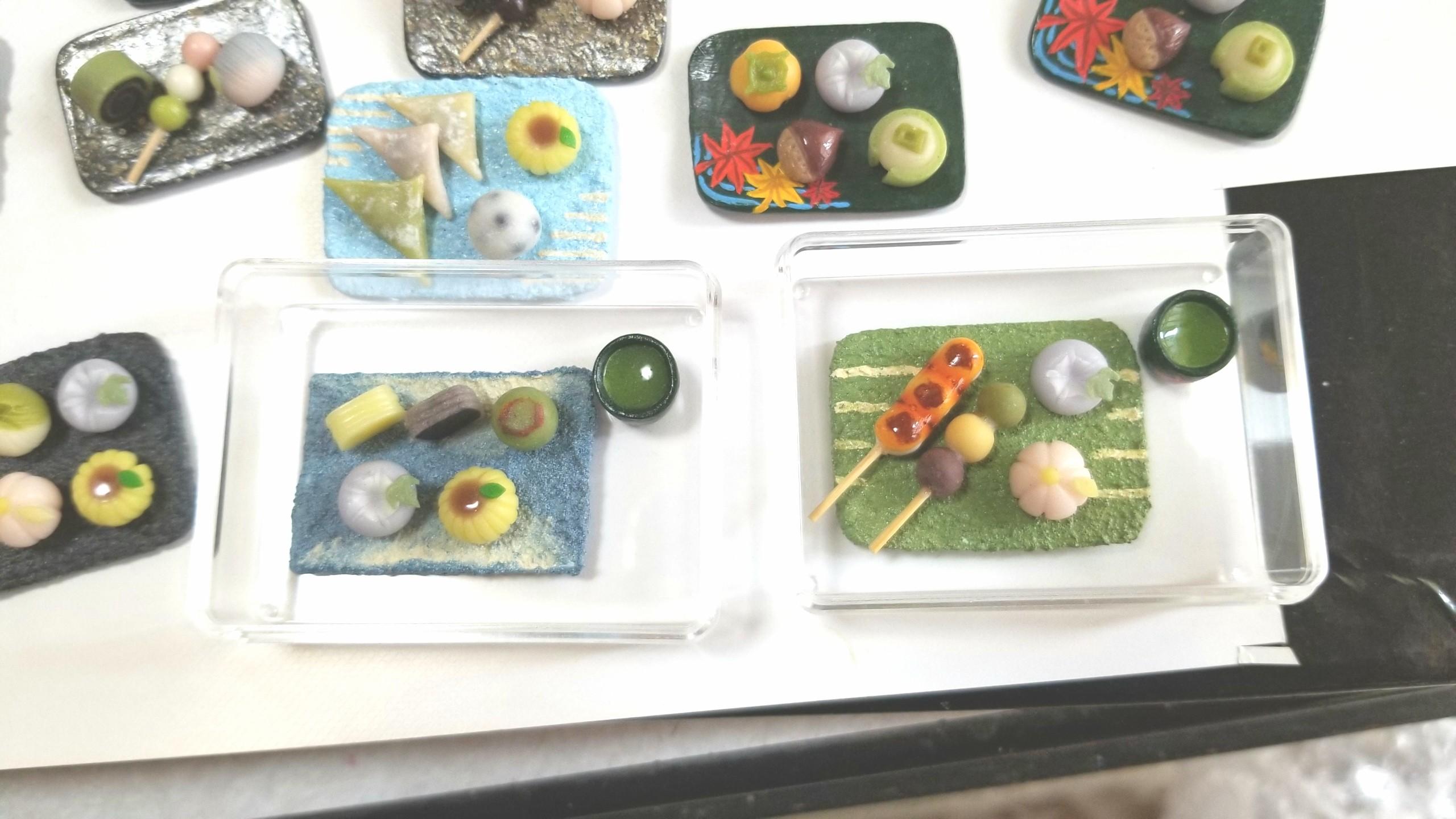 和菓子セット用,おぼんの作り方,ミニチュア,桧,木材,ドールハウス