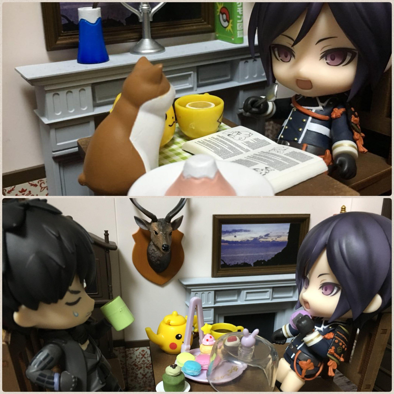 刀剣乱舞,ねんどろいど,薬研藤四郎,可愛いドール,友達とお茶を飲む