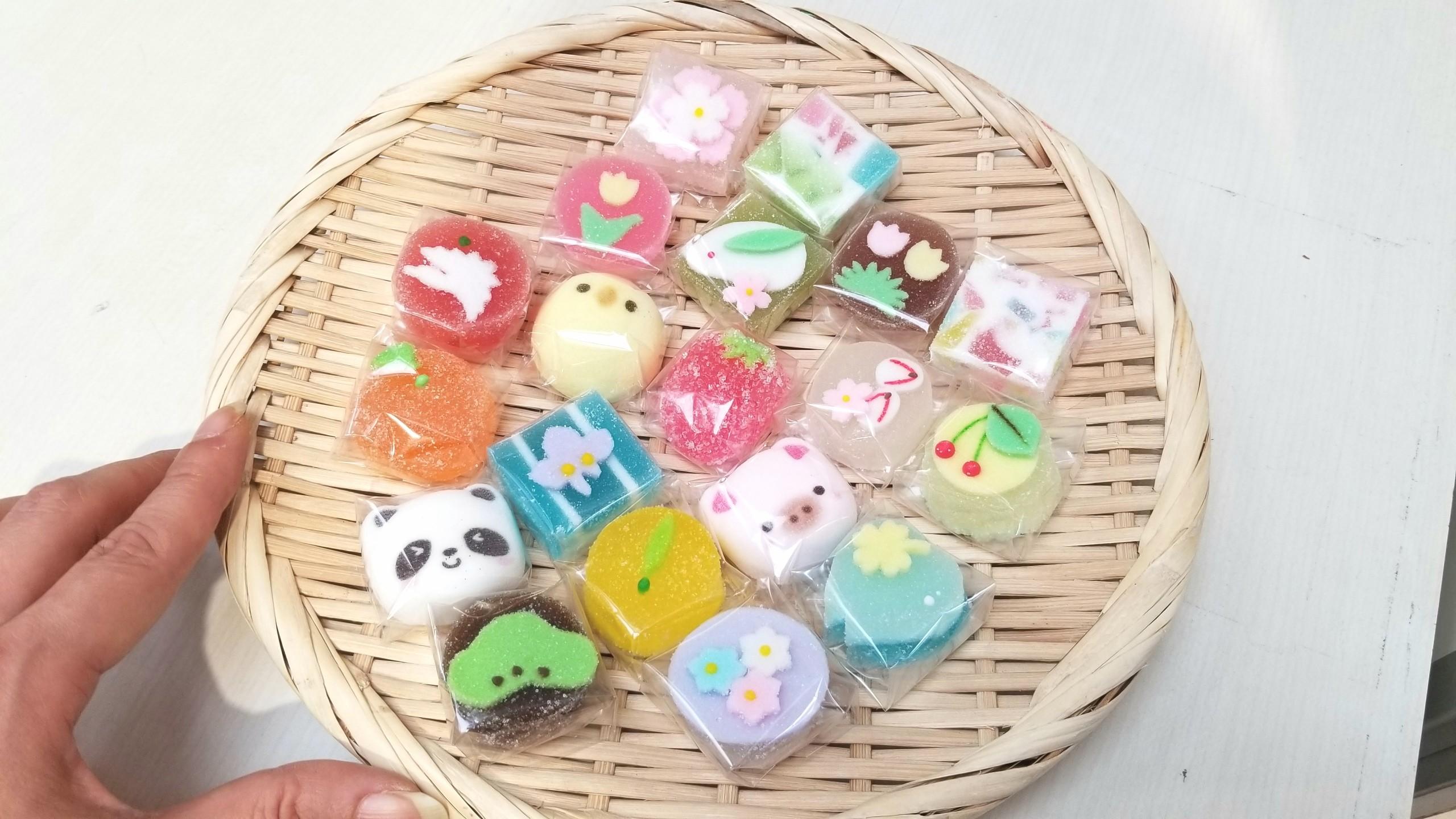 かわいい綺麗な和菓子生菓子京都特産品展フジ食べるのもったいない