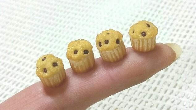 小さいかわいいミニチュアスイーツお菓子おいしいマフィン手作り小物
