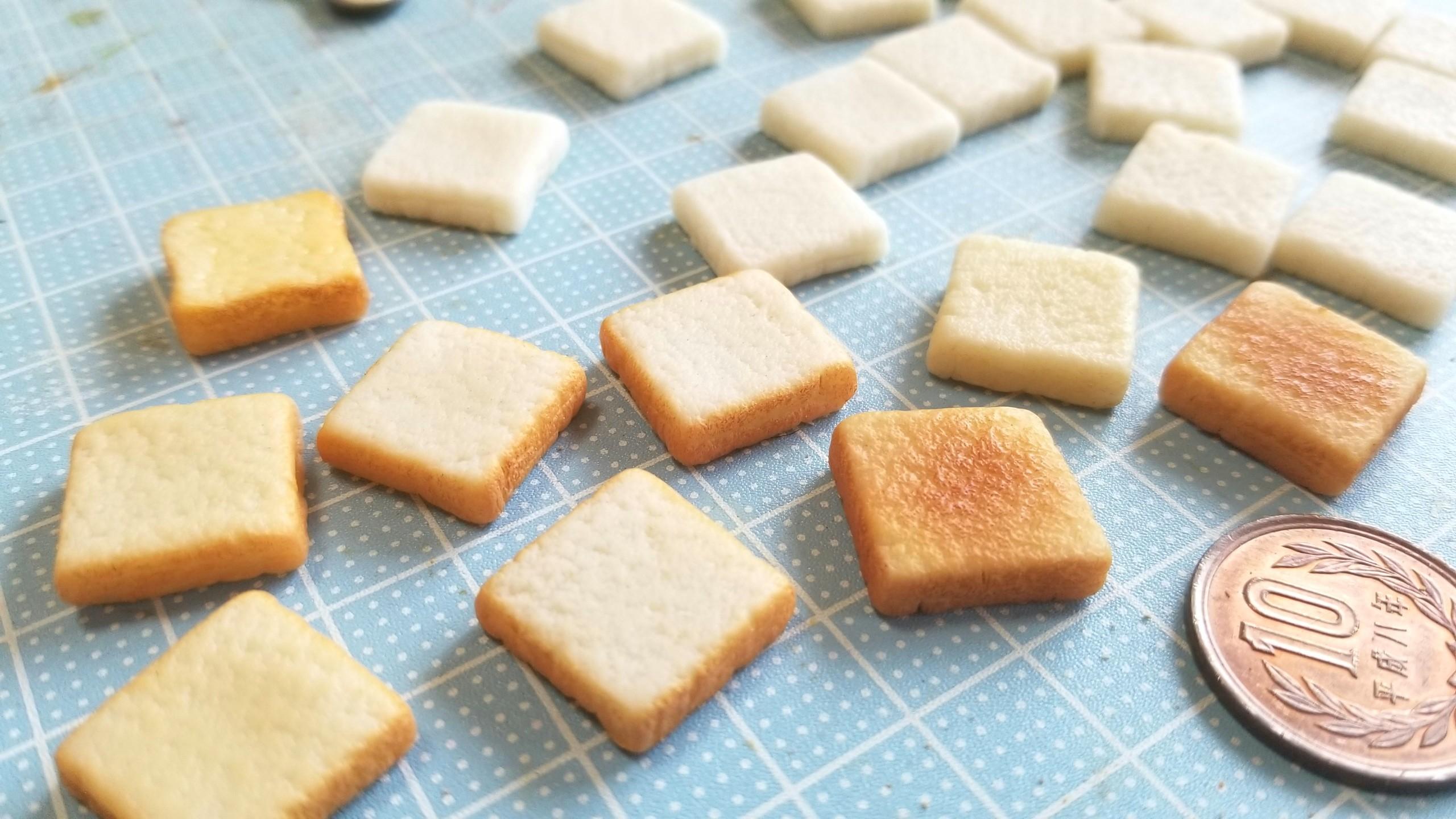 ミニチュアフード,トースト食パンの作り方,樹脂粘土アート,おいしい