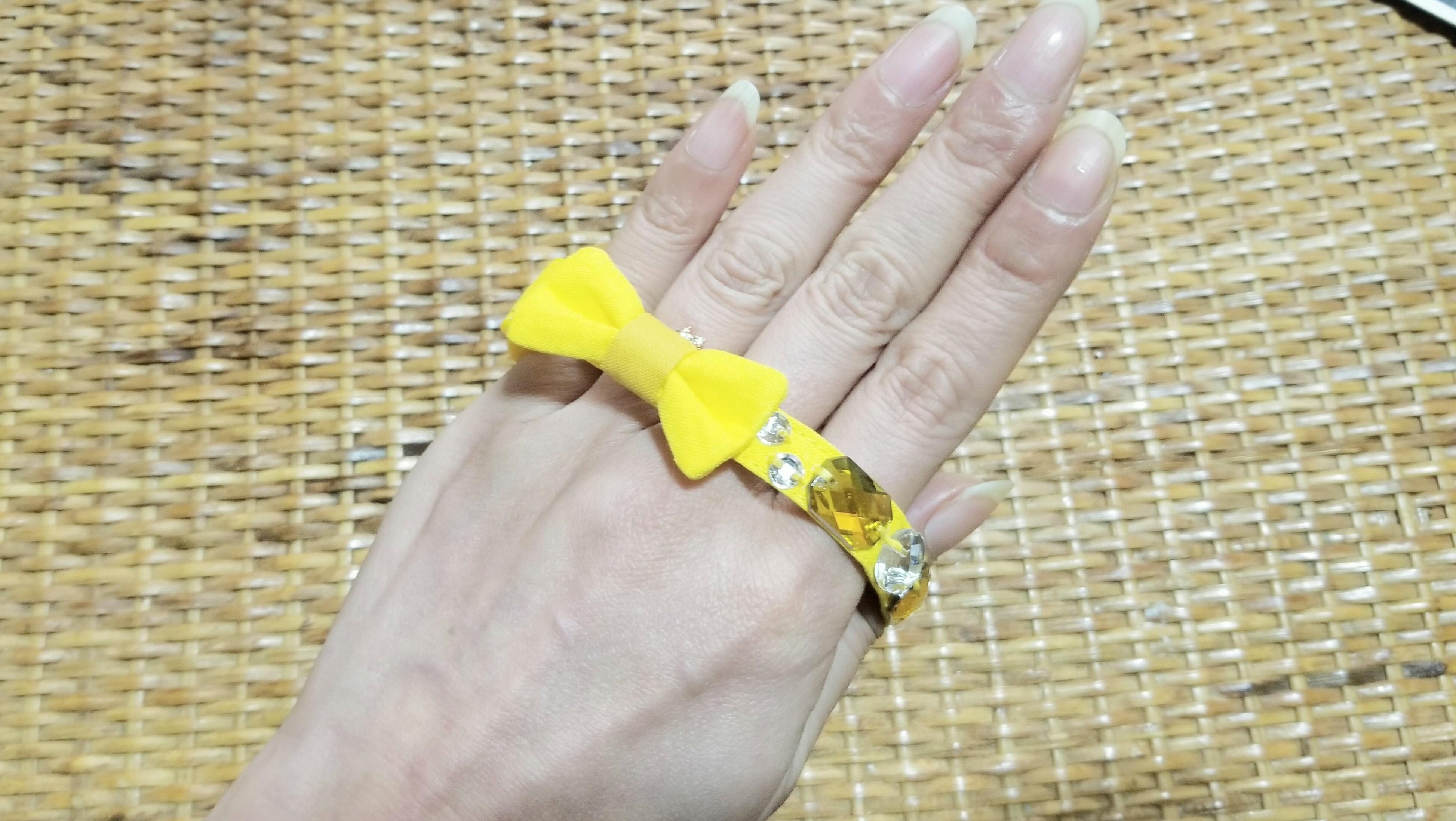 ハンドメイド手作り猫用首輪可愛いペットツイッタープレゼント企画