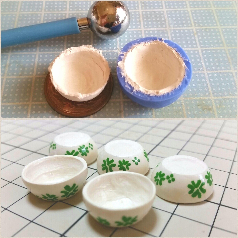ミニチュアフード,サラダボウルの作り方,コップ,石塑粘土,活用術