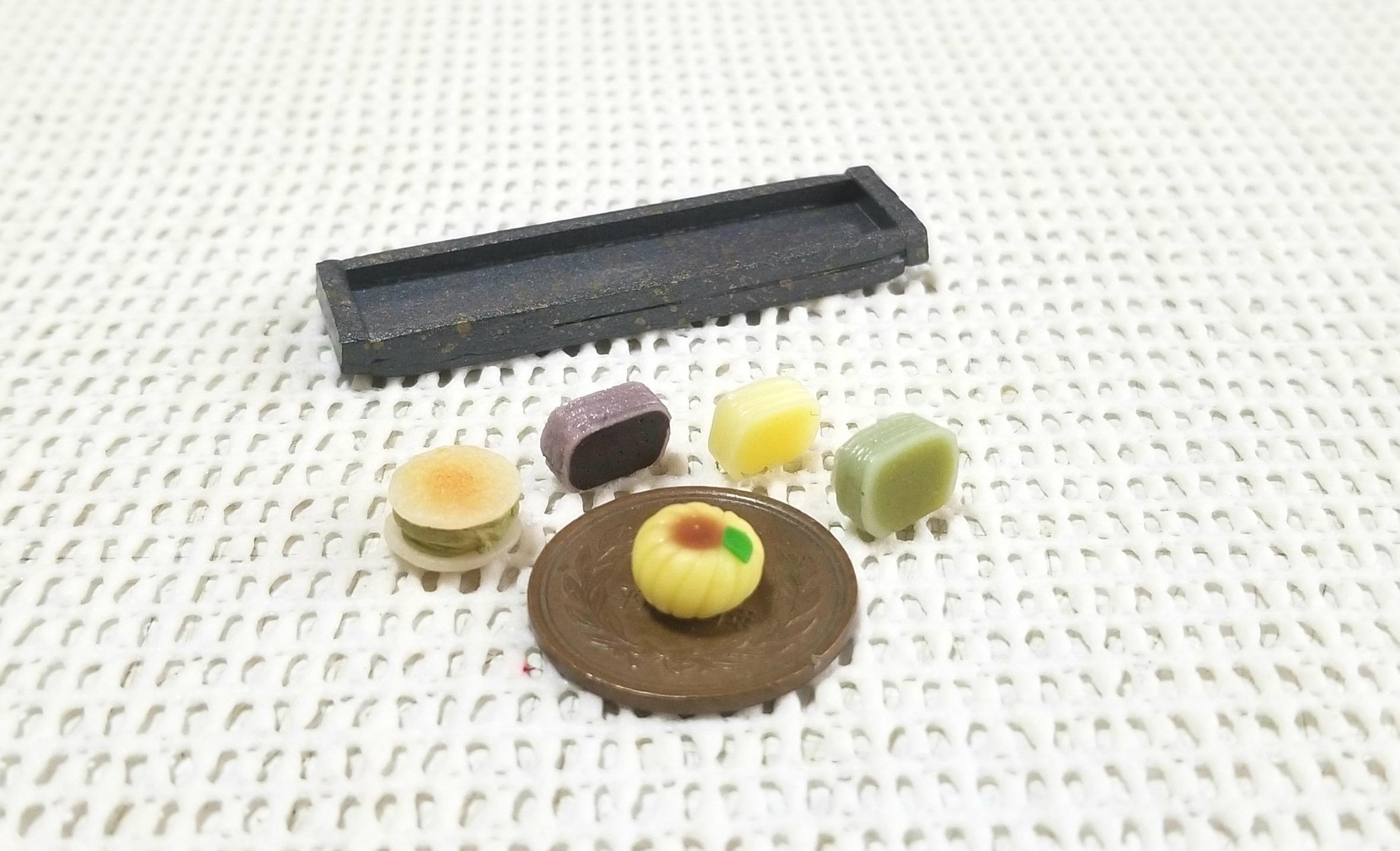 ミニチュア,ミンネで販売中,樹脂粘土,どら焼き,ドールハウス,食品