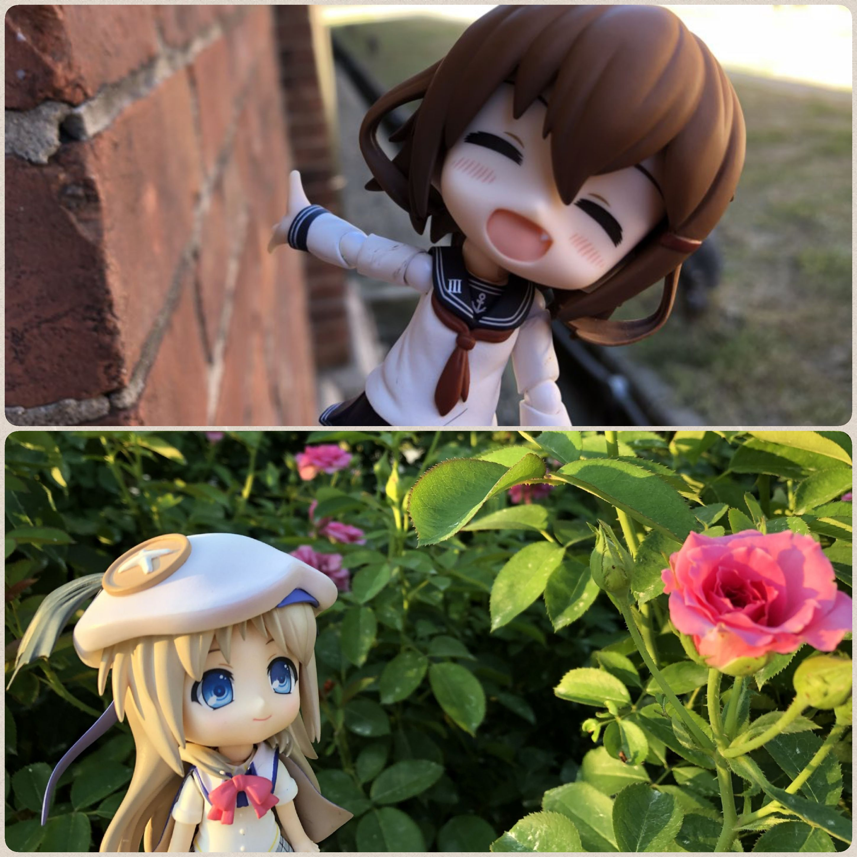 キューッポッシュ,ねんどろいど,お花畑,綺麗な花とドール,可愛らしい