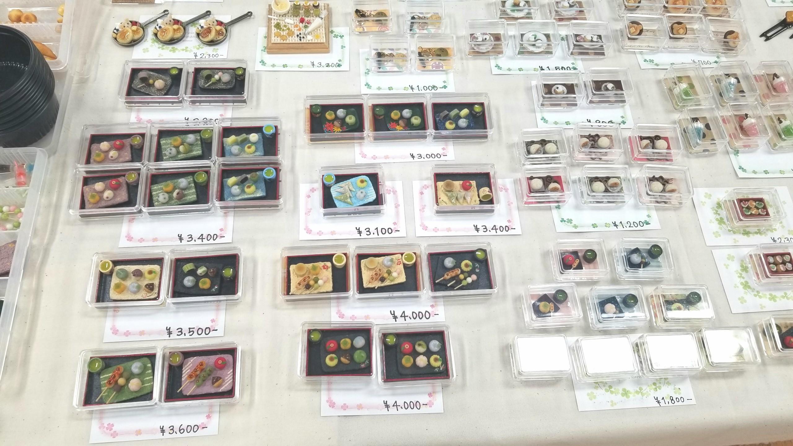 ミニチュアフード,樹脂粘土,ドールハウス,展示,出店,和菓子,販売