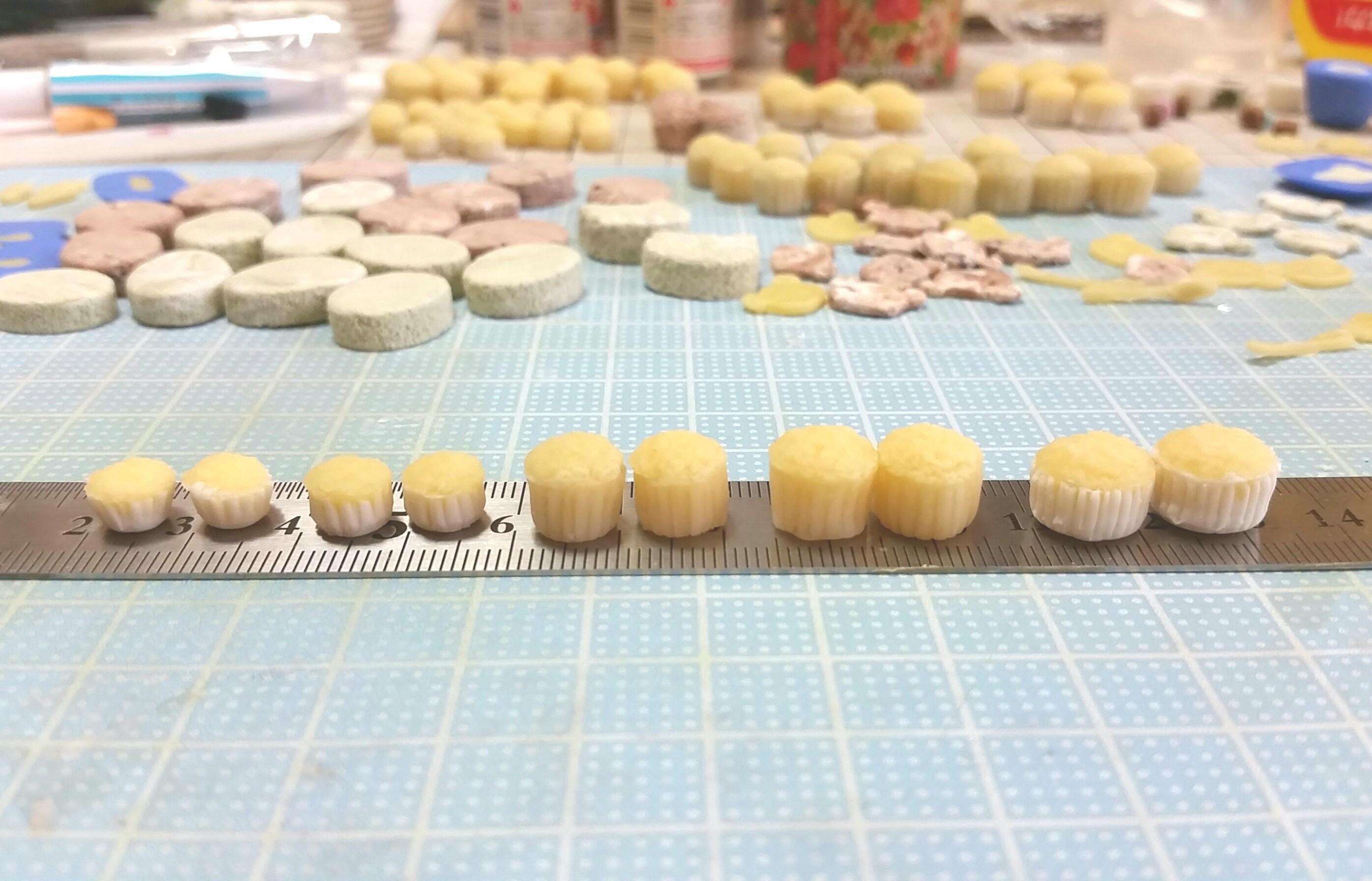 複製作り,エポキシパテ,原型の作り方,カップケーキ,ミニチュアフード