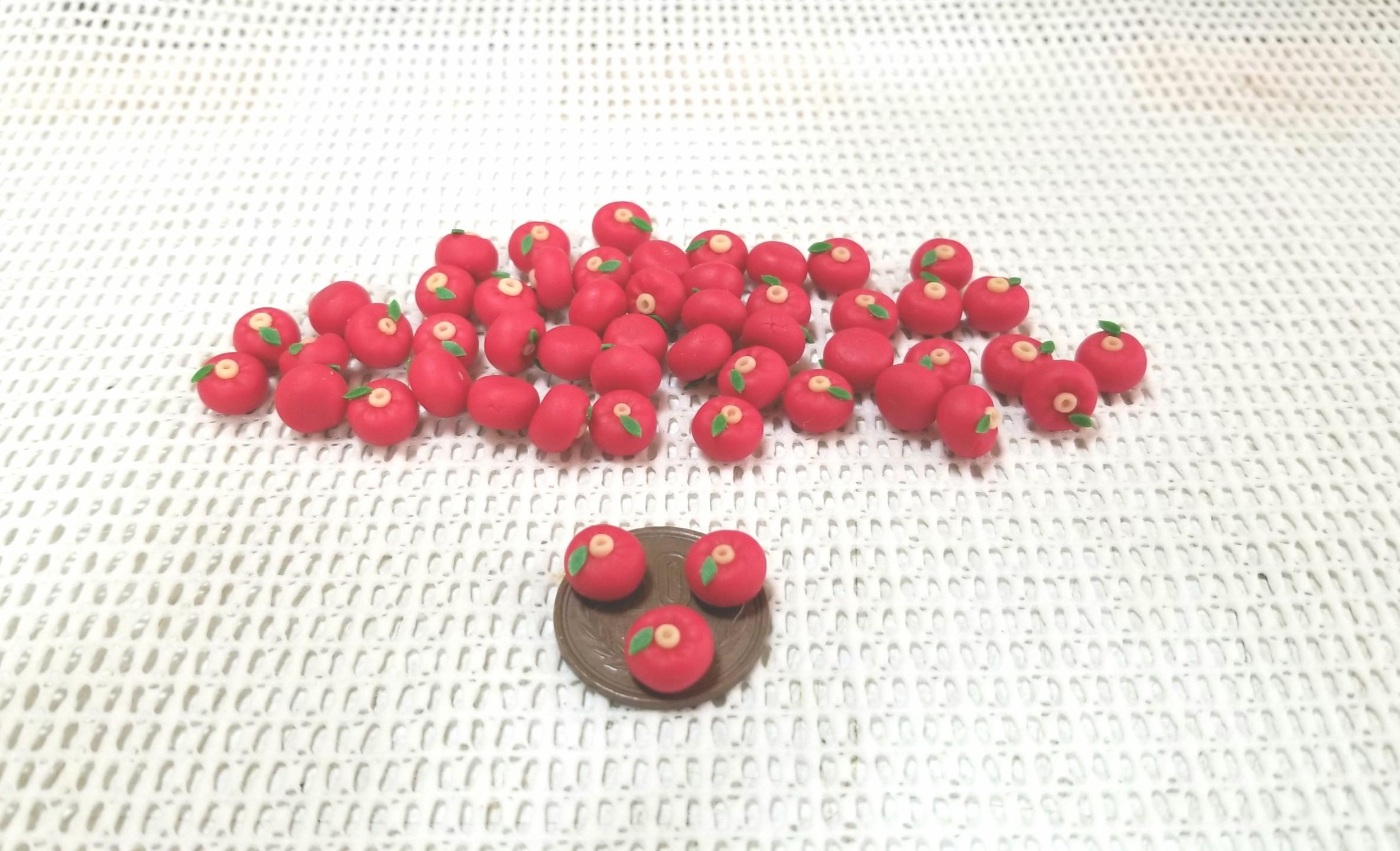 ミニチュアフード,和菓子,椿,練りきり,樹脂粘土,食品サンプル