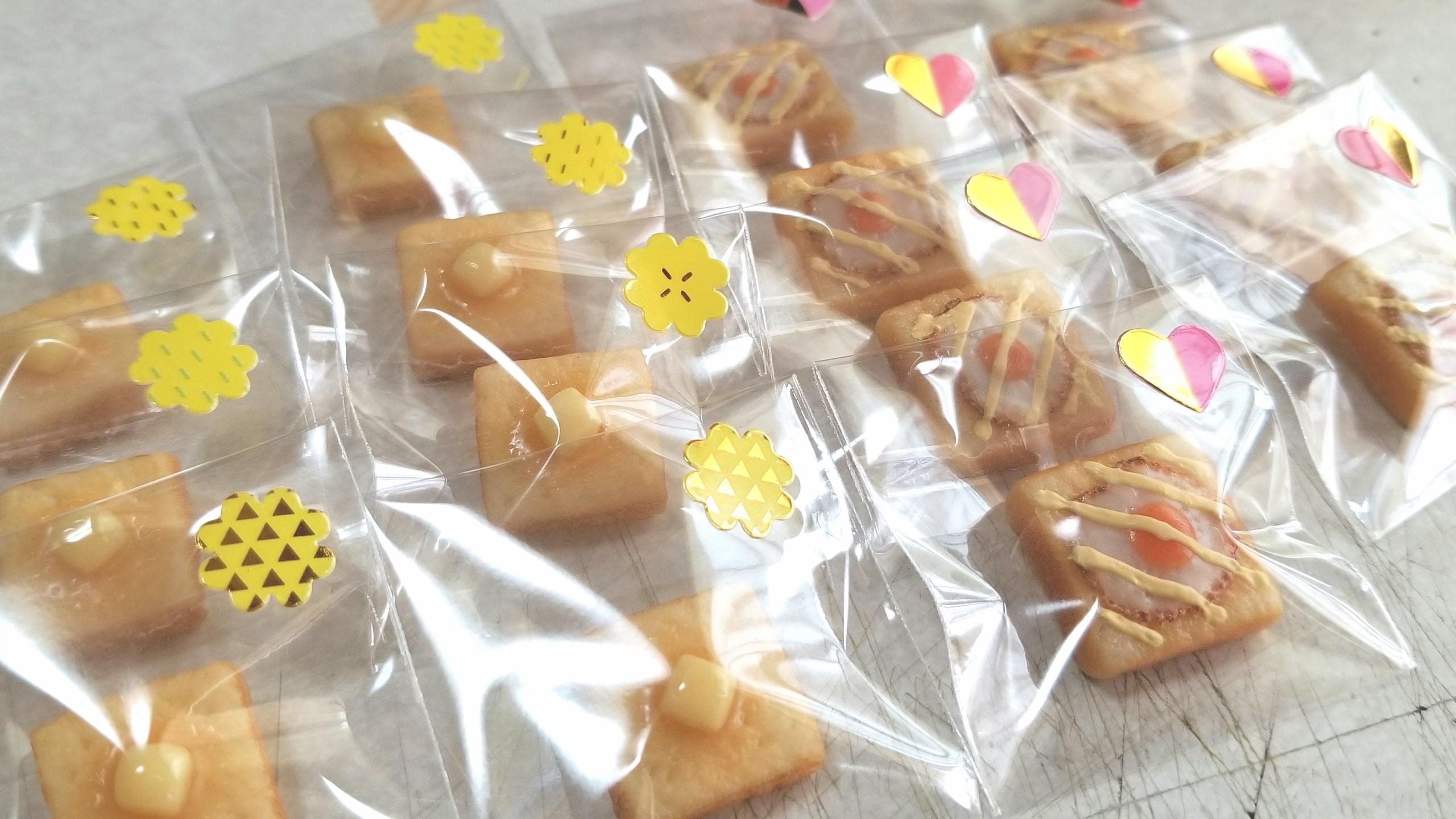 包装,ラッピング,ミニチュアフード,トースト,食パン,樹脂粘土,食玩