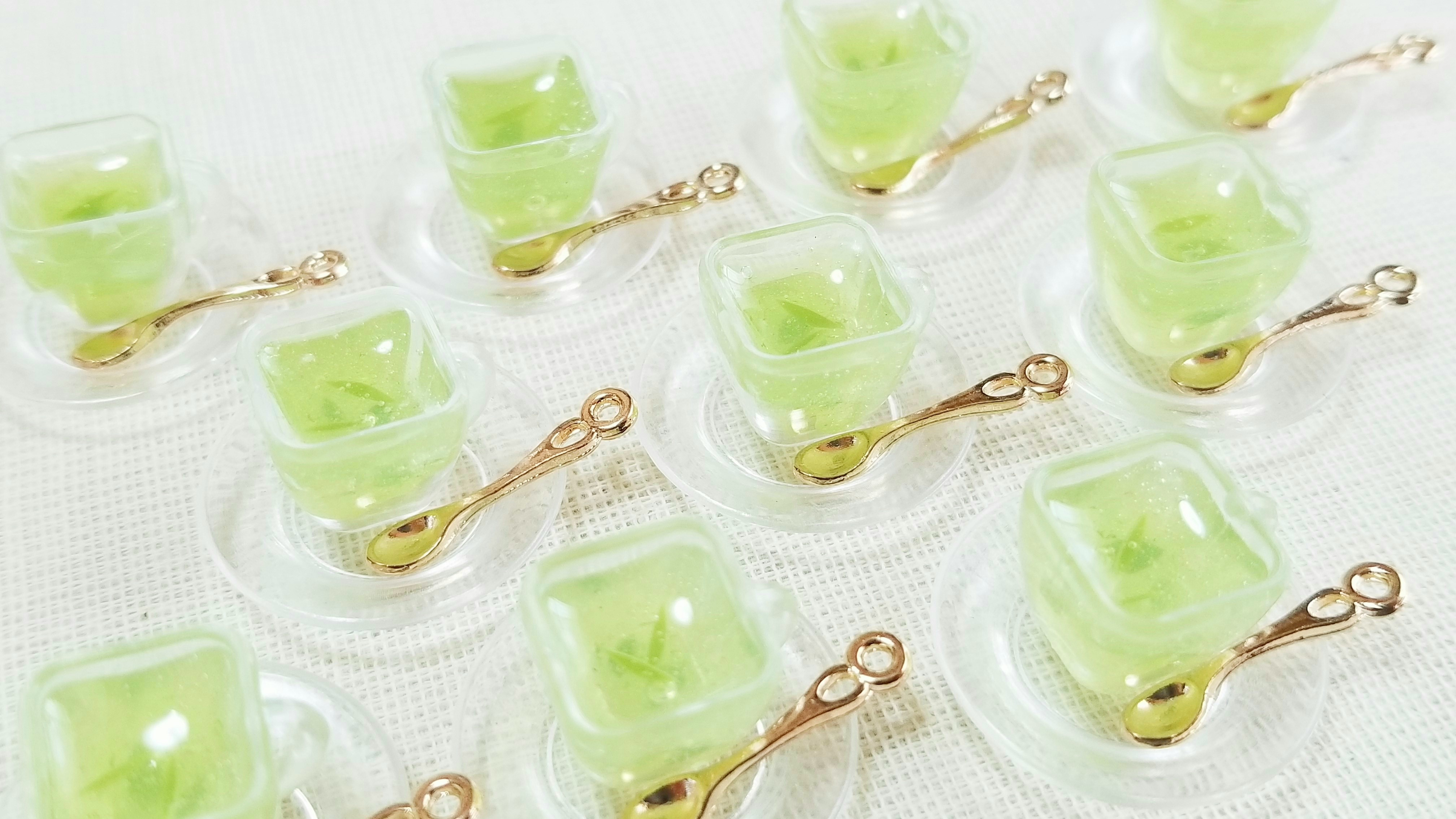 ミニチュアドリンク飲み物おいしい可愛い緑茶スイーツデザート小物