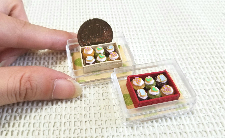 ミニチュア, プチカップケーキ, ミンネにて販売中, 食品サンプル