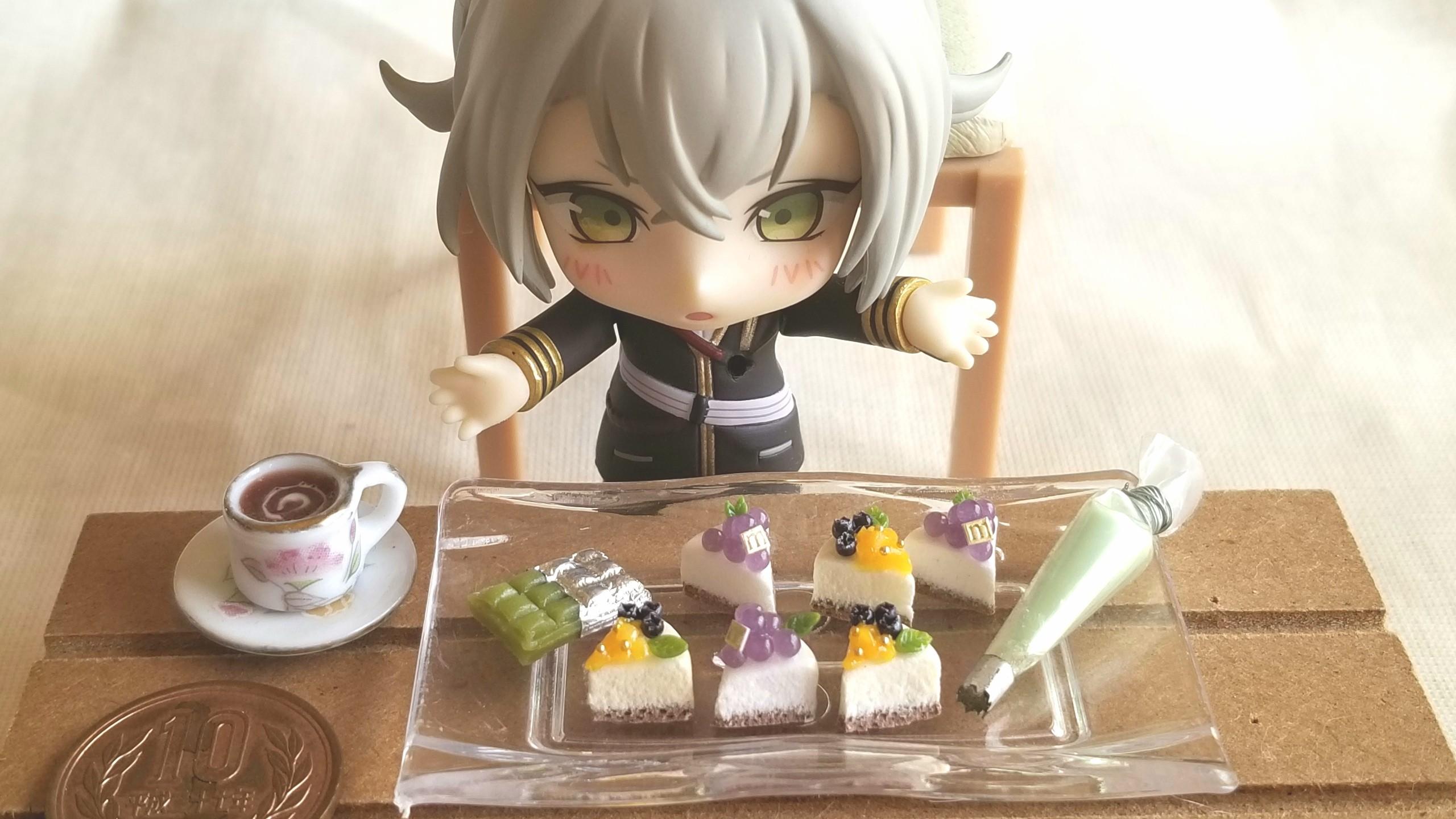ミニチュアフード,ケーキ,ねんどろ刀剣男士蛍丸,とうらぶ,ドール