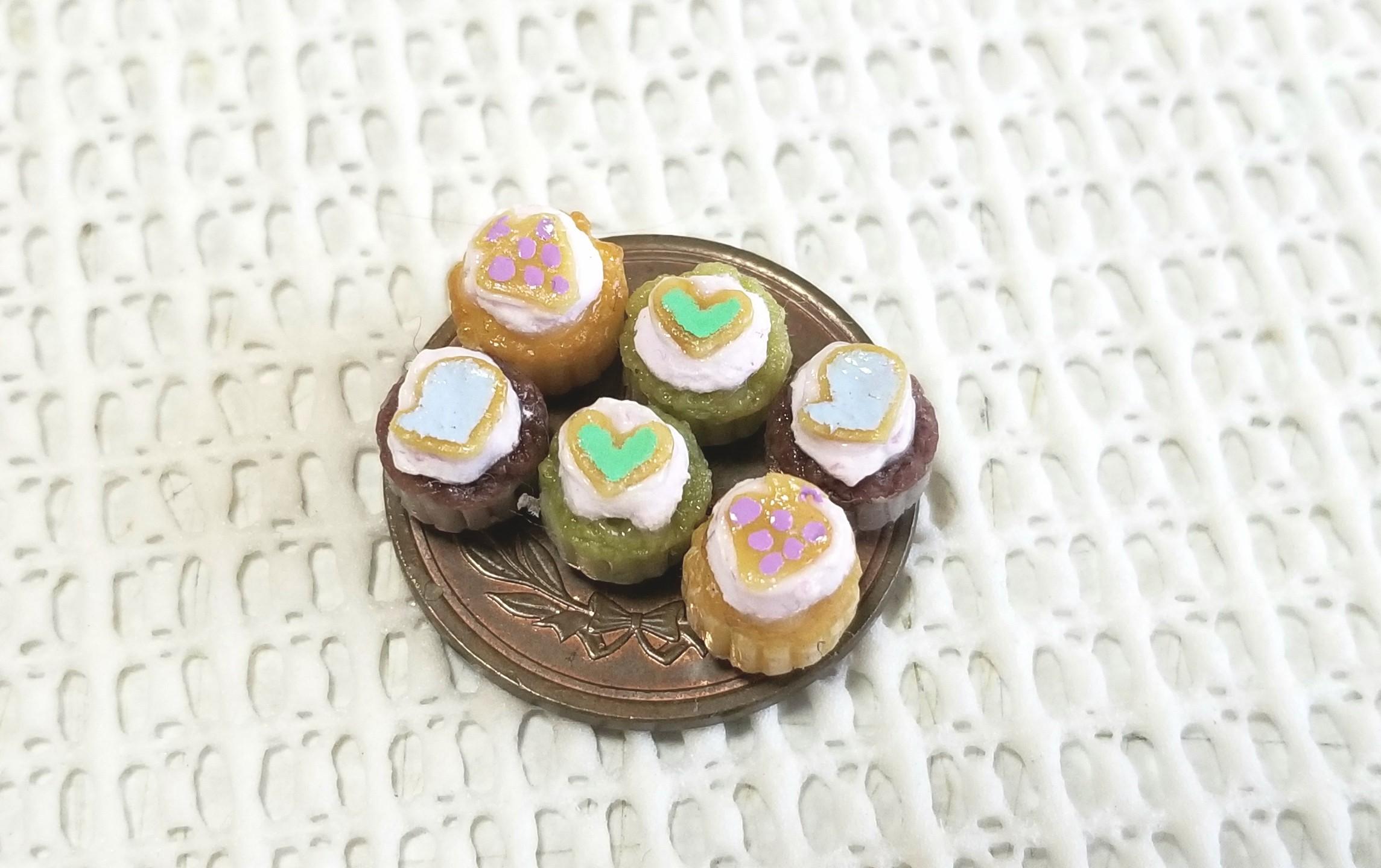 ミニチュアフード,樹脂粘土,カップケーキ,オビツ11,リカちゃん人形