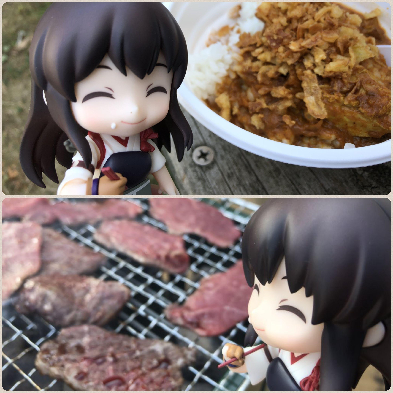 キューッポッシュ,ねんどろいど,焼きにを食べる,BBQ,食いしん坊