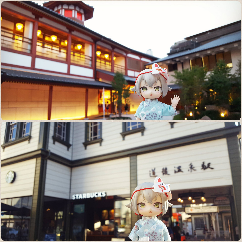 ドール撮影,観光旅行の記念写真,愛媛県道後温泉,超絶幸せハッピー