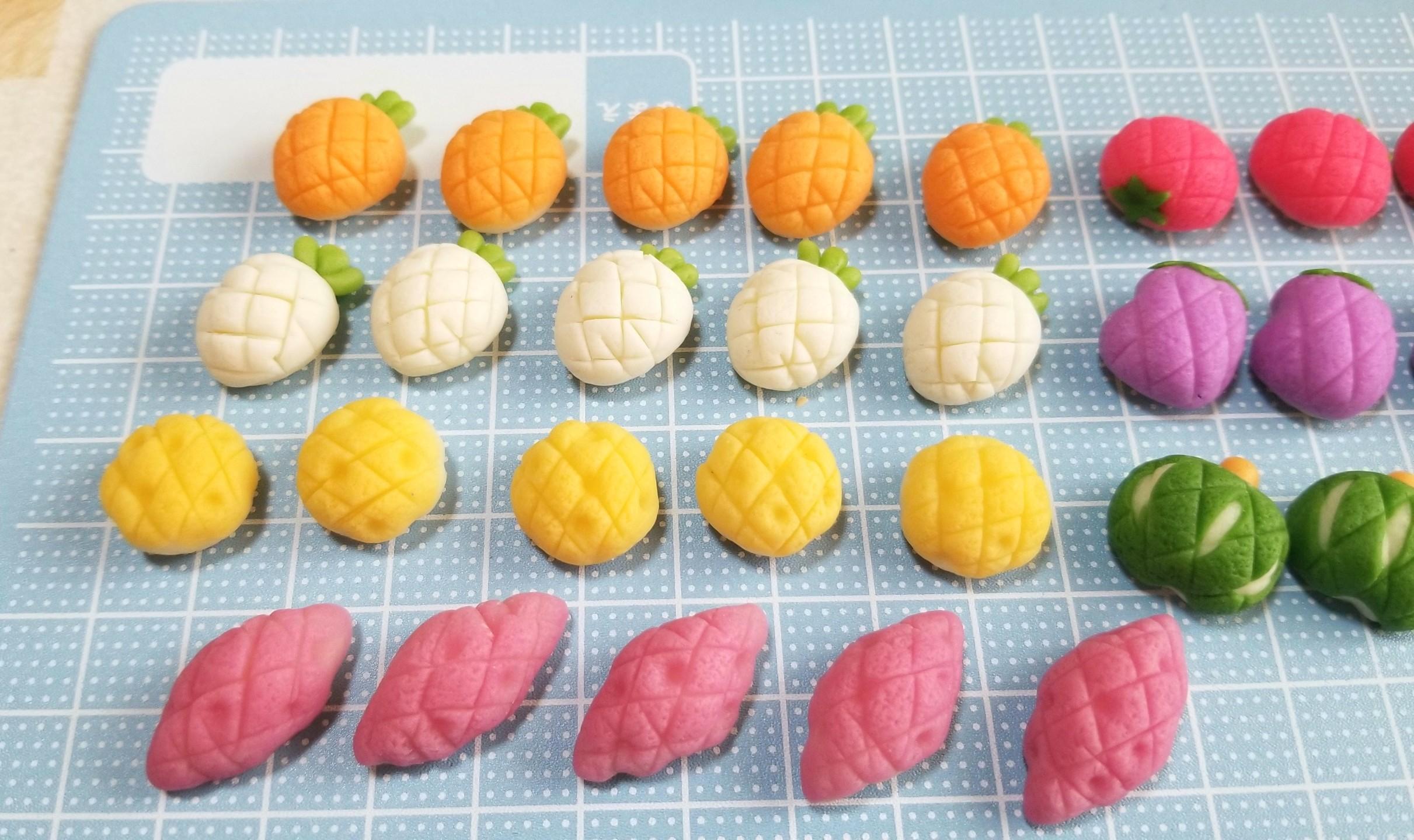 野菜メロンパン,ミニチュアフード,作り方,樹脂粘土,フェイクフード