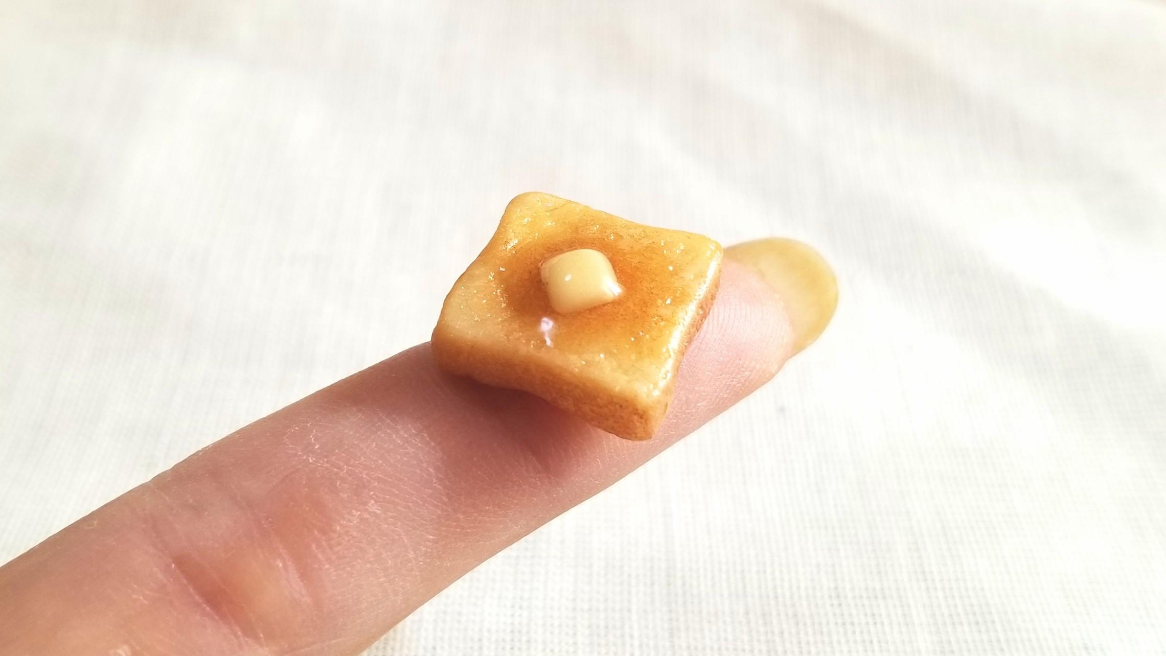 ミニチュアバタートースト,おいしい食パン,樹脂粘土アート,人気