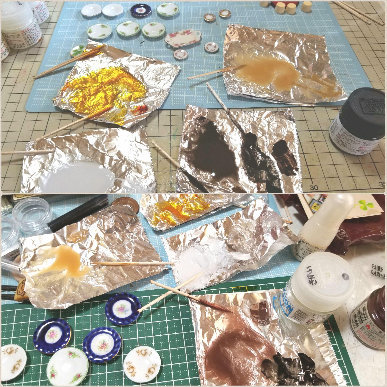 ミニチュアフードの作り方,ドリンク飲み物,レジンアート作品,陶器