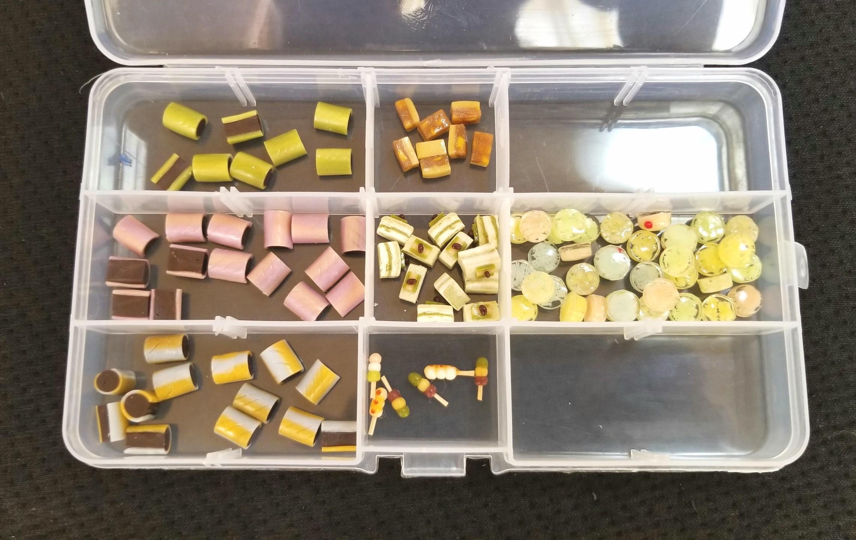 ミニチュア,樹脂粘土,栗羊羮,水ようかん,上生菓子,和菓子,オビツ