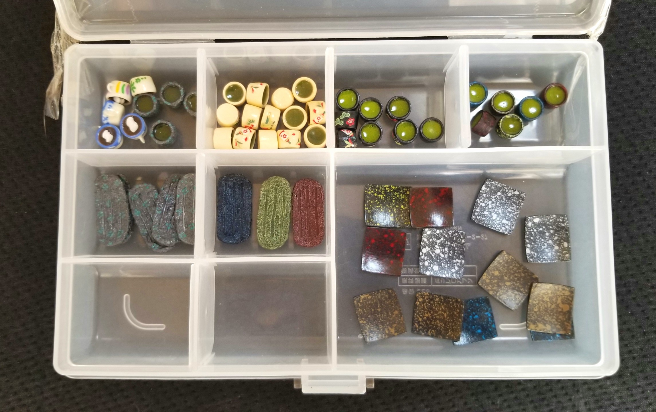 ミニチュア,和食器,お抹茶,お茶,粘土,リカちゃん人形,バービー