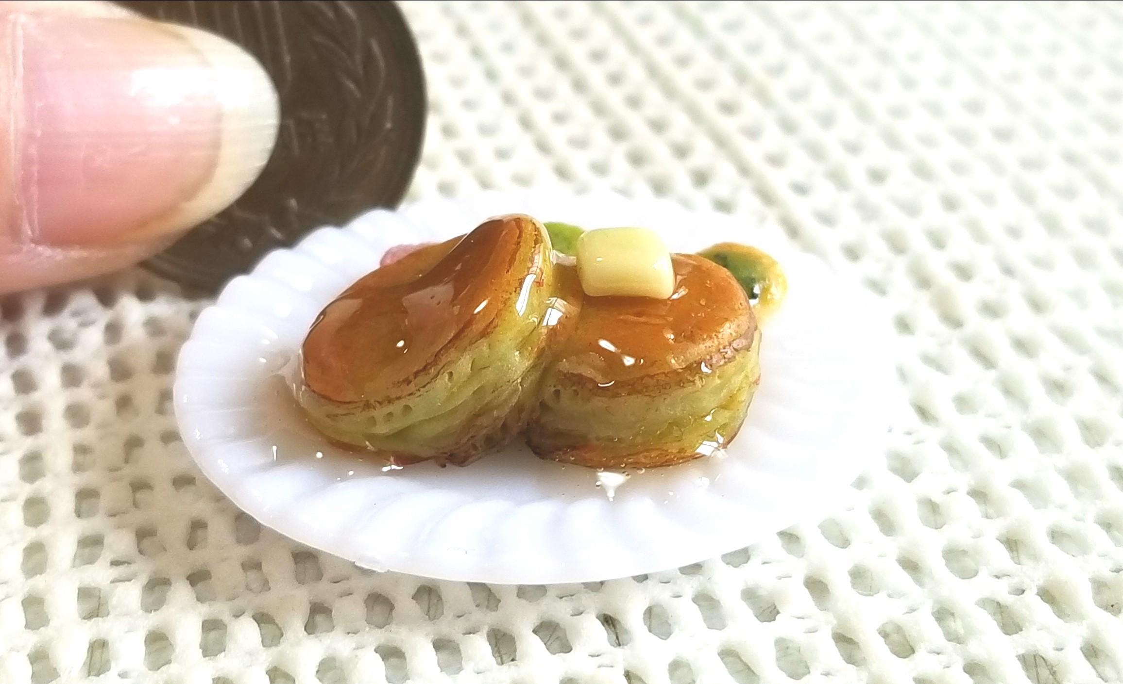 ホットケーキ,ミニチュアフード,パンケーキ,樹脂粘土,ドールハウス
