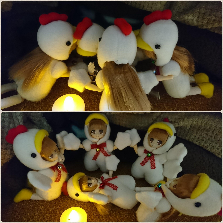 ニワトリネイリー,謎の儀式,拝む,ウケる,楽しい,おもしろいドール