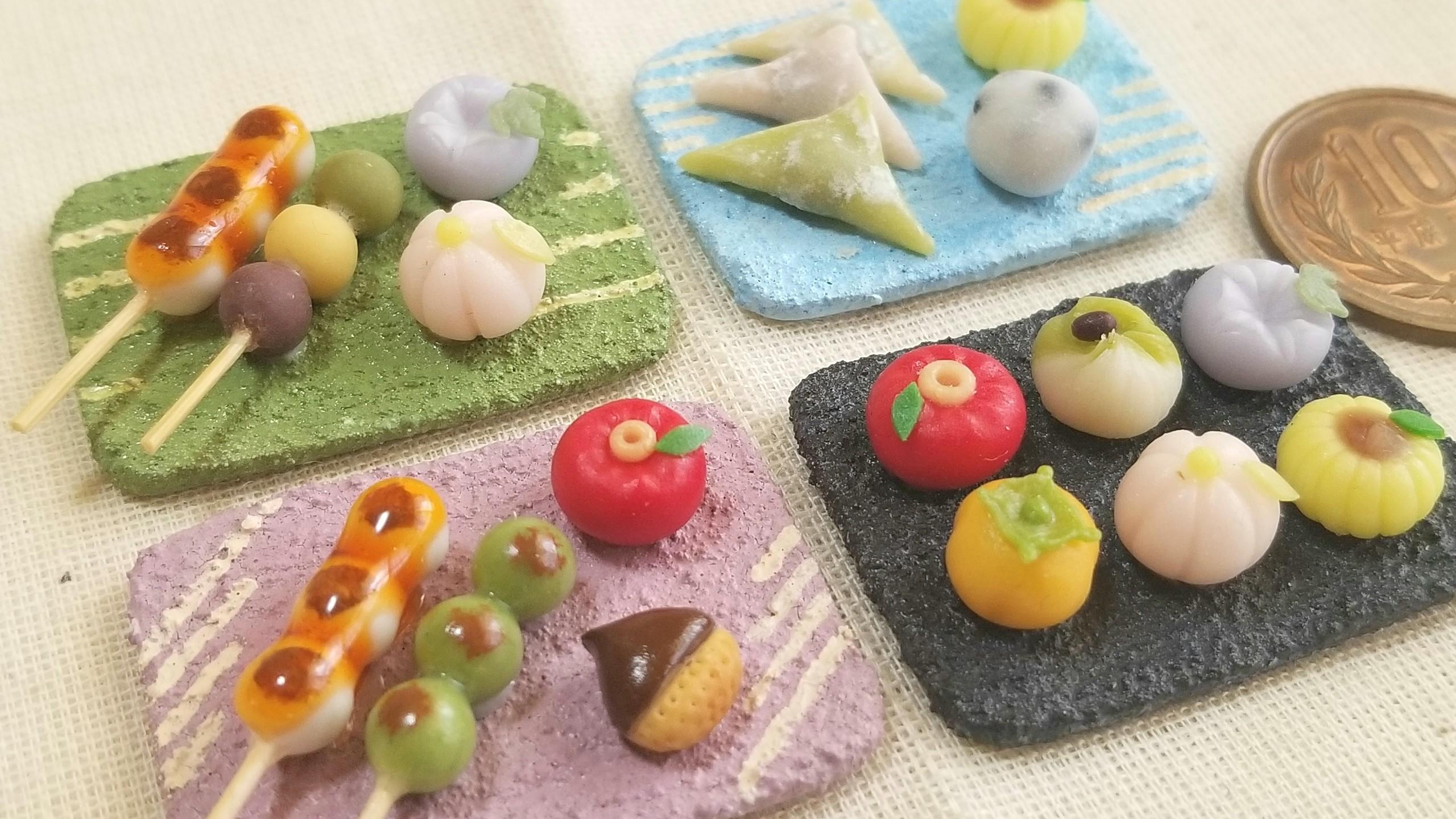 東京ドールハウスミニチュアショウ,和菓子,作品製作,2018,和食器