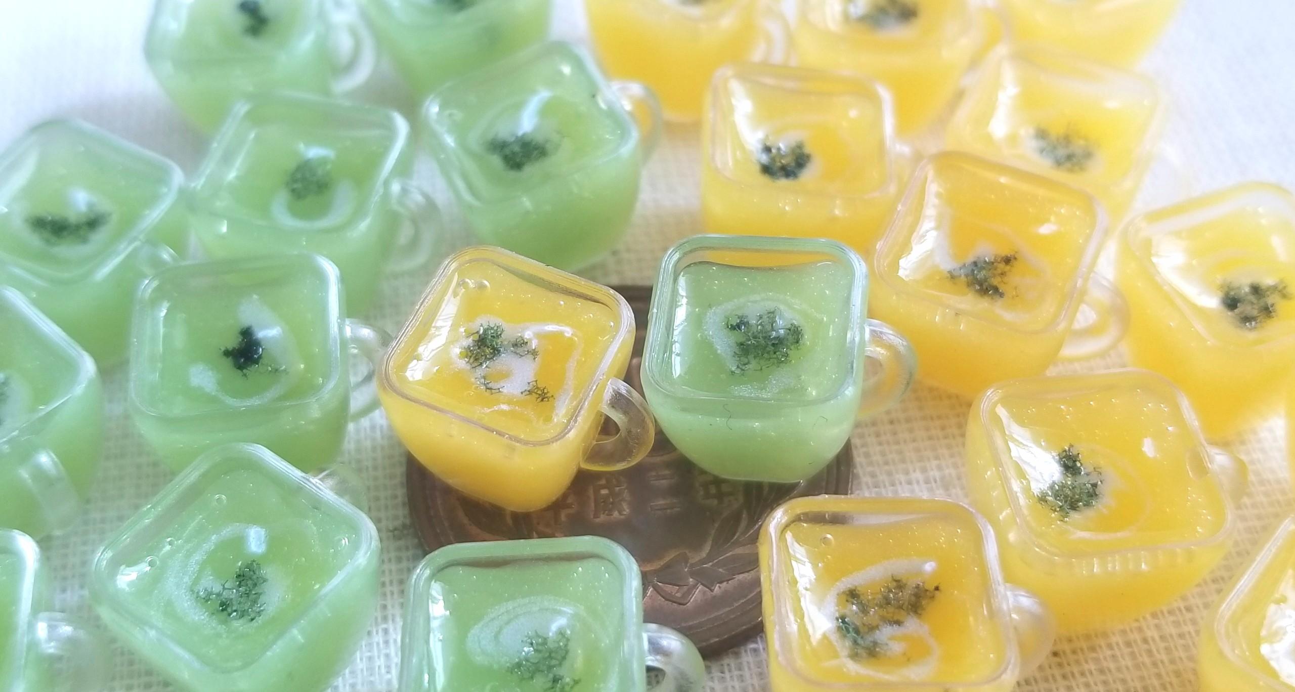 冷製スープ,ミニチュアフード,レジン,枝豆,食品サンプル,ミンネ