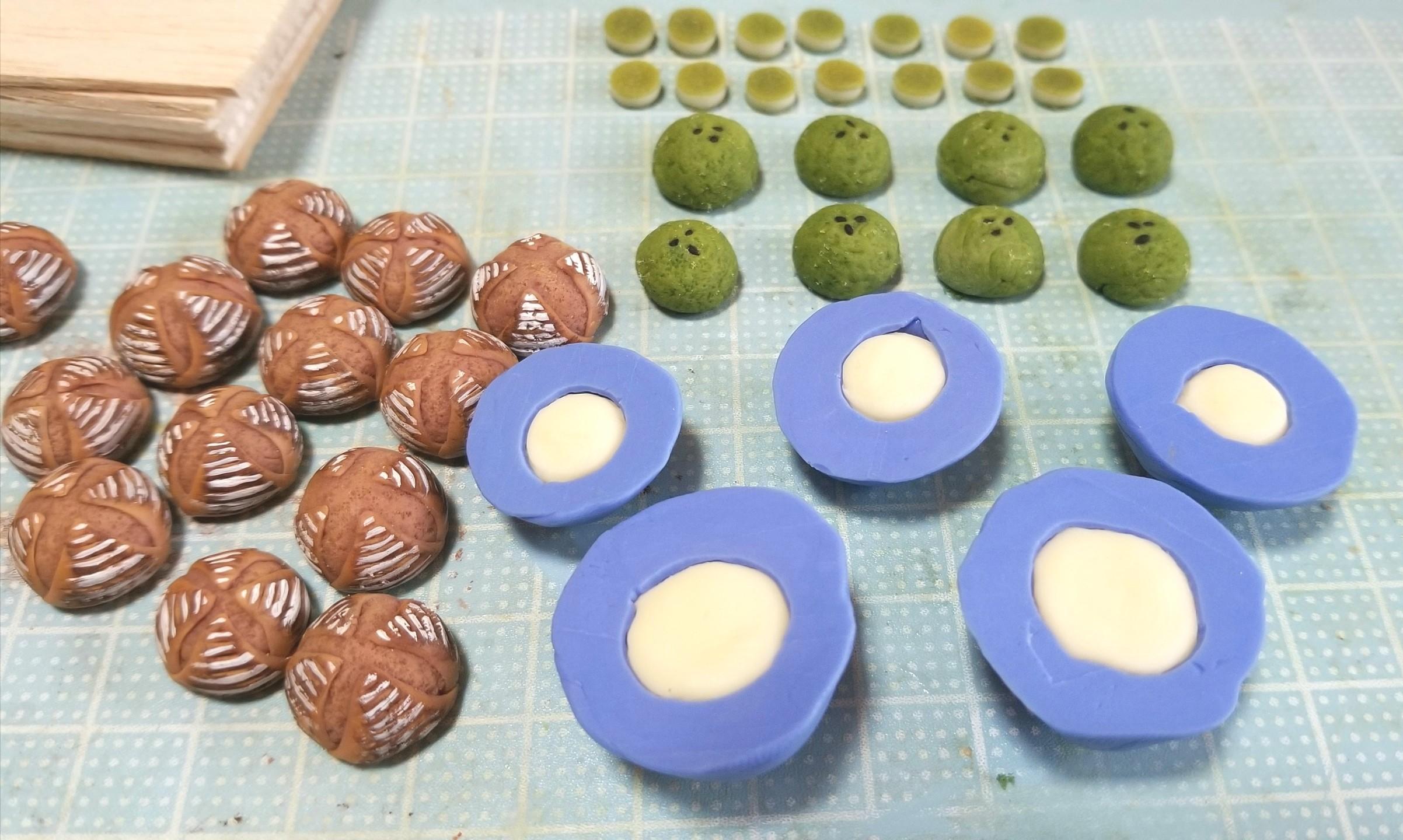 ミニチュアフード, パン, 作り方, 製作過程, 樹脂粘土, カンパーニュ