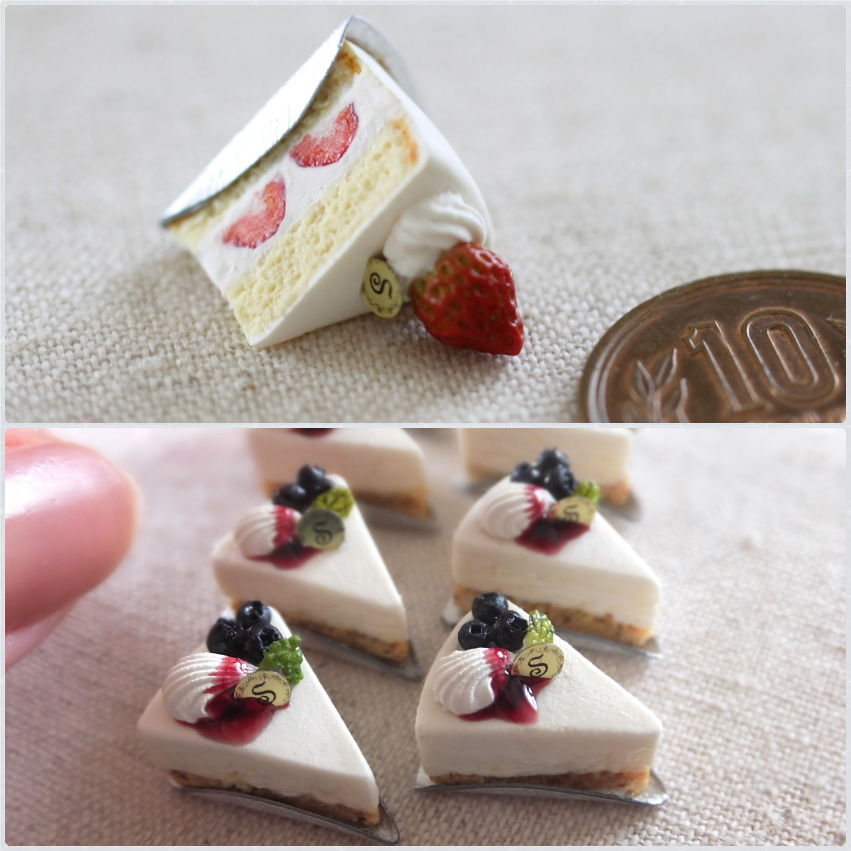 ミニチュアフード,有名おすすめ作家,shibazukeparipari,ベリーケーキ