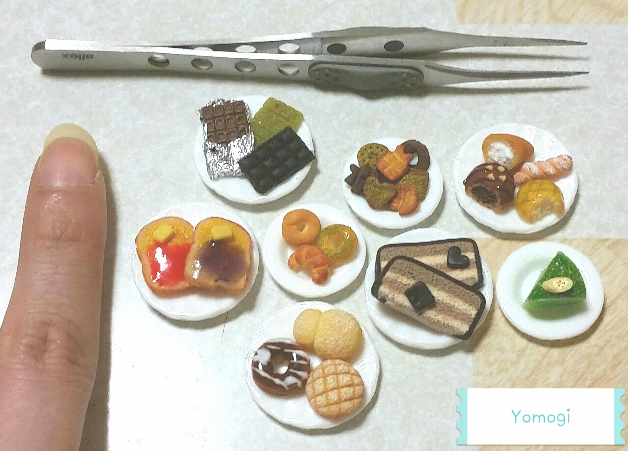 ミニチュアフード,かわいいケーキパンお菓子,樹脂粘土,過程まとめ