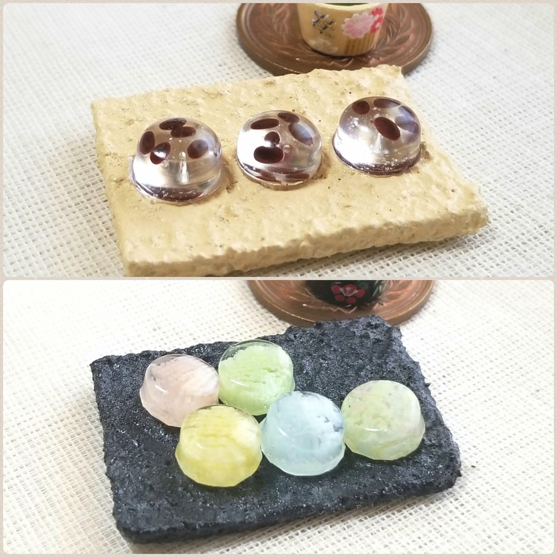 和菓子屋,ミニチュア,創作水ようかん,冷たい羊羮,涼しそう,食玩
