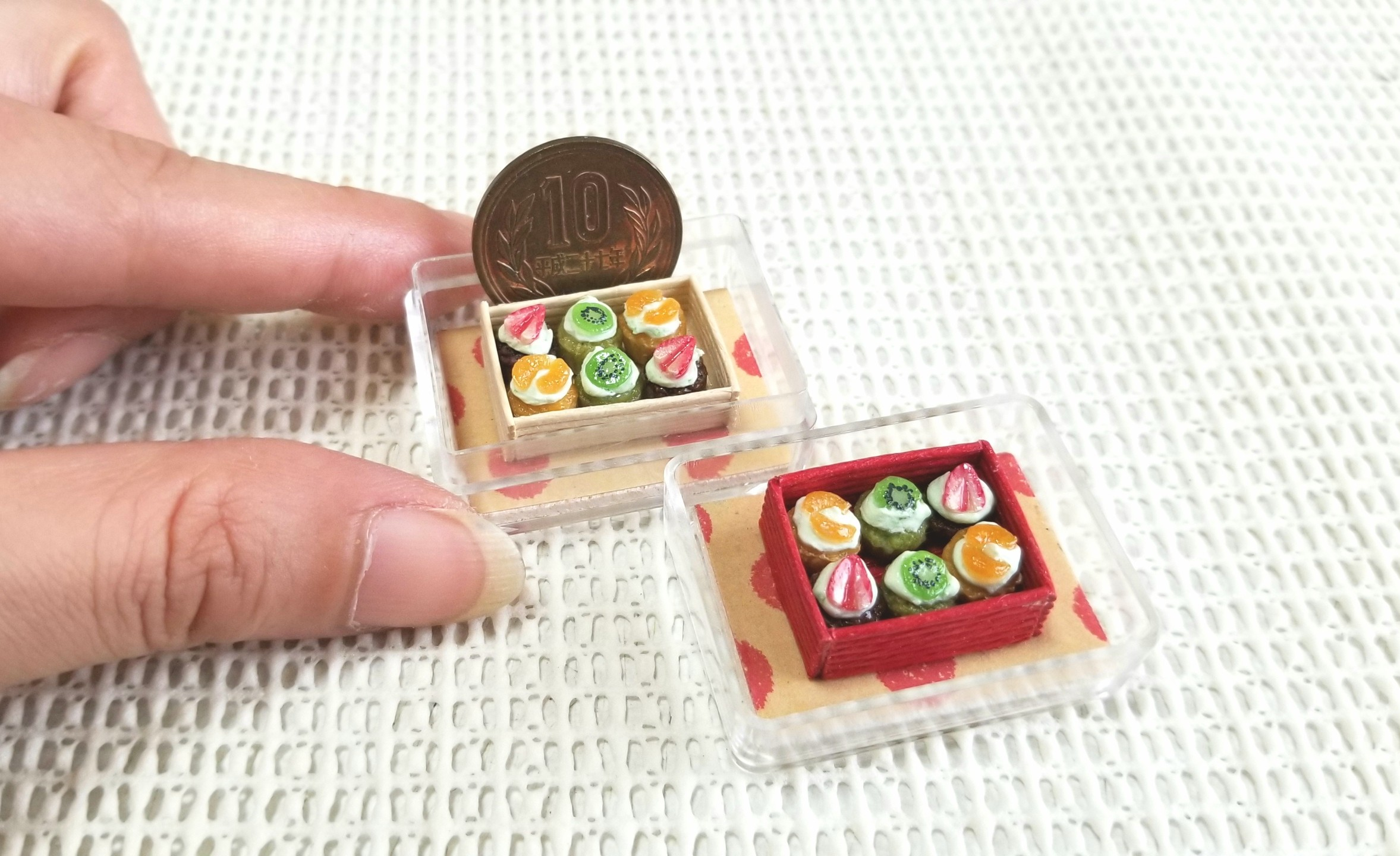 ミニチュアフード, ミニカップケーキ, ミンネで販売中, ハンドメイド