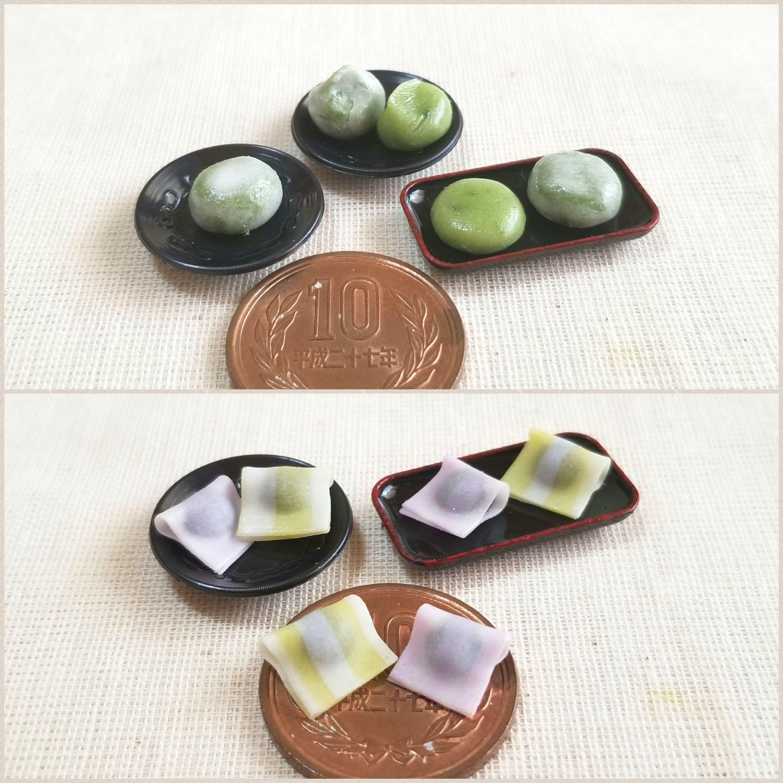 おすすめミニチュア,かわいい和菓子生菓子,樹脂粘土,アートブログ