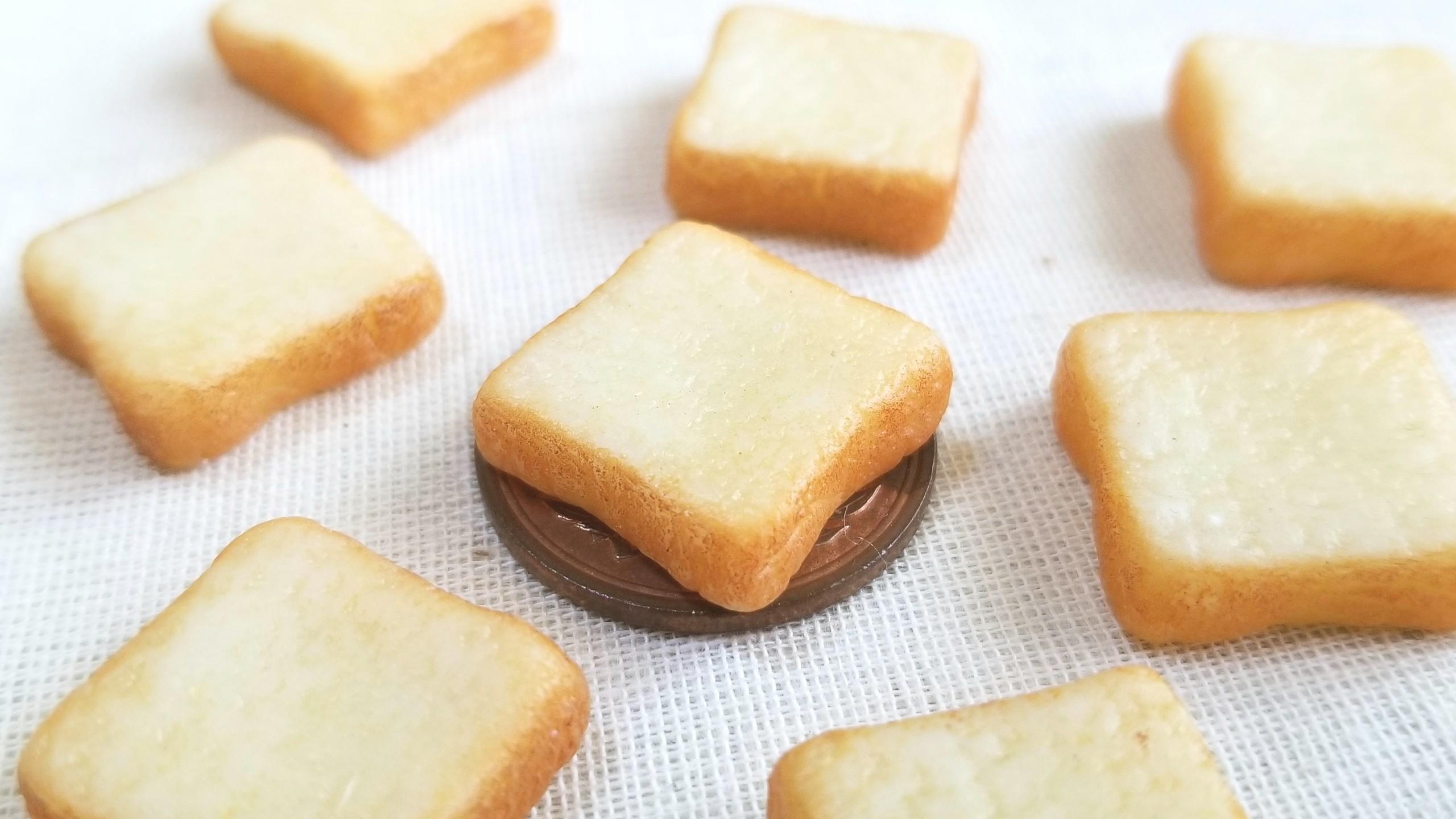 しっとりふんわり食パン,ミニチュアフード,美味しいトースト樹脂粘土