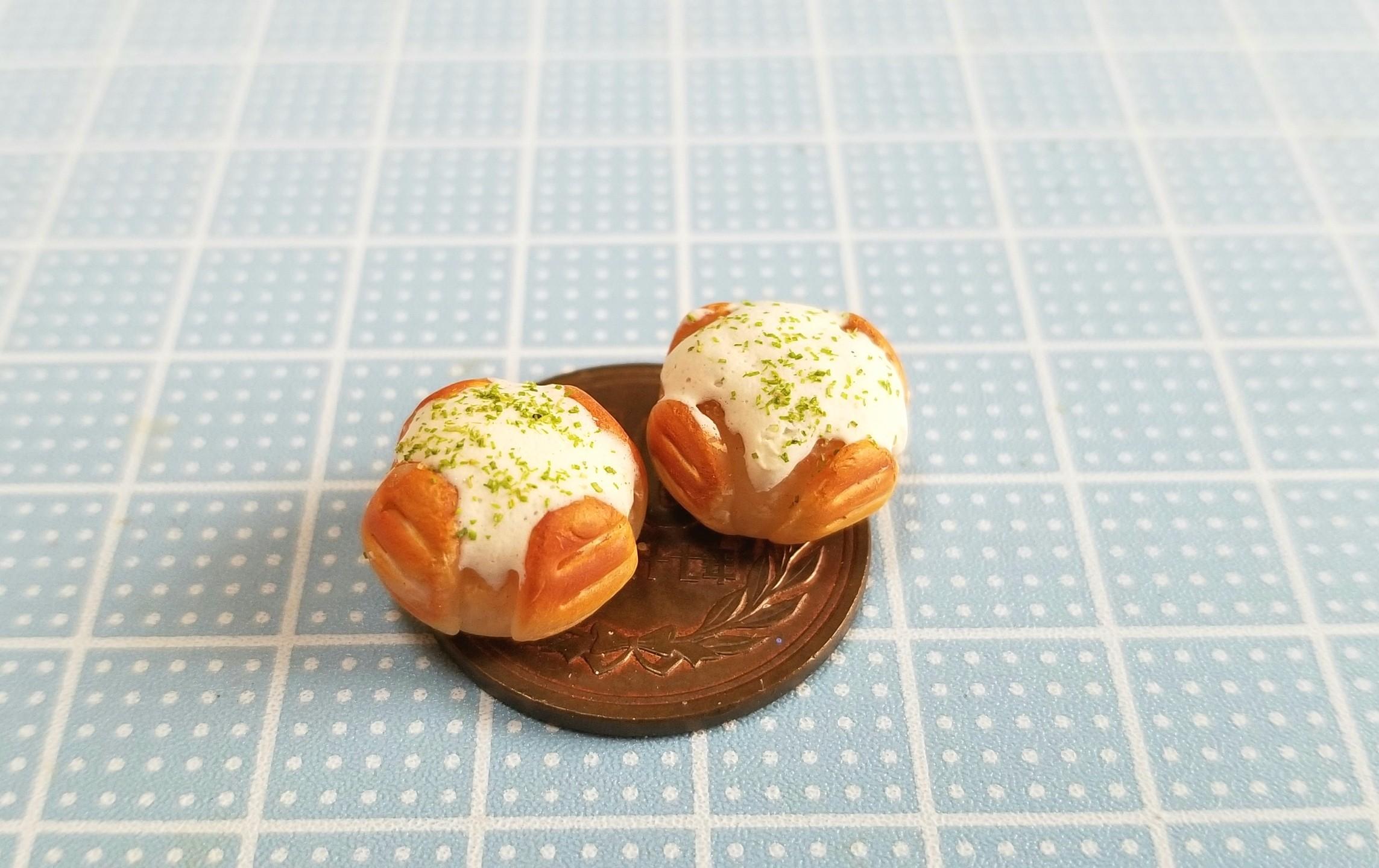 ミニチュア,カマンベールチーズパン,樹脂粘土,オビツろいど,ドール