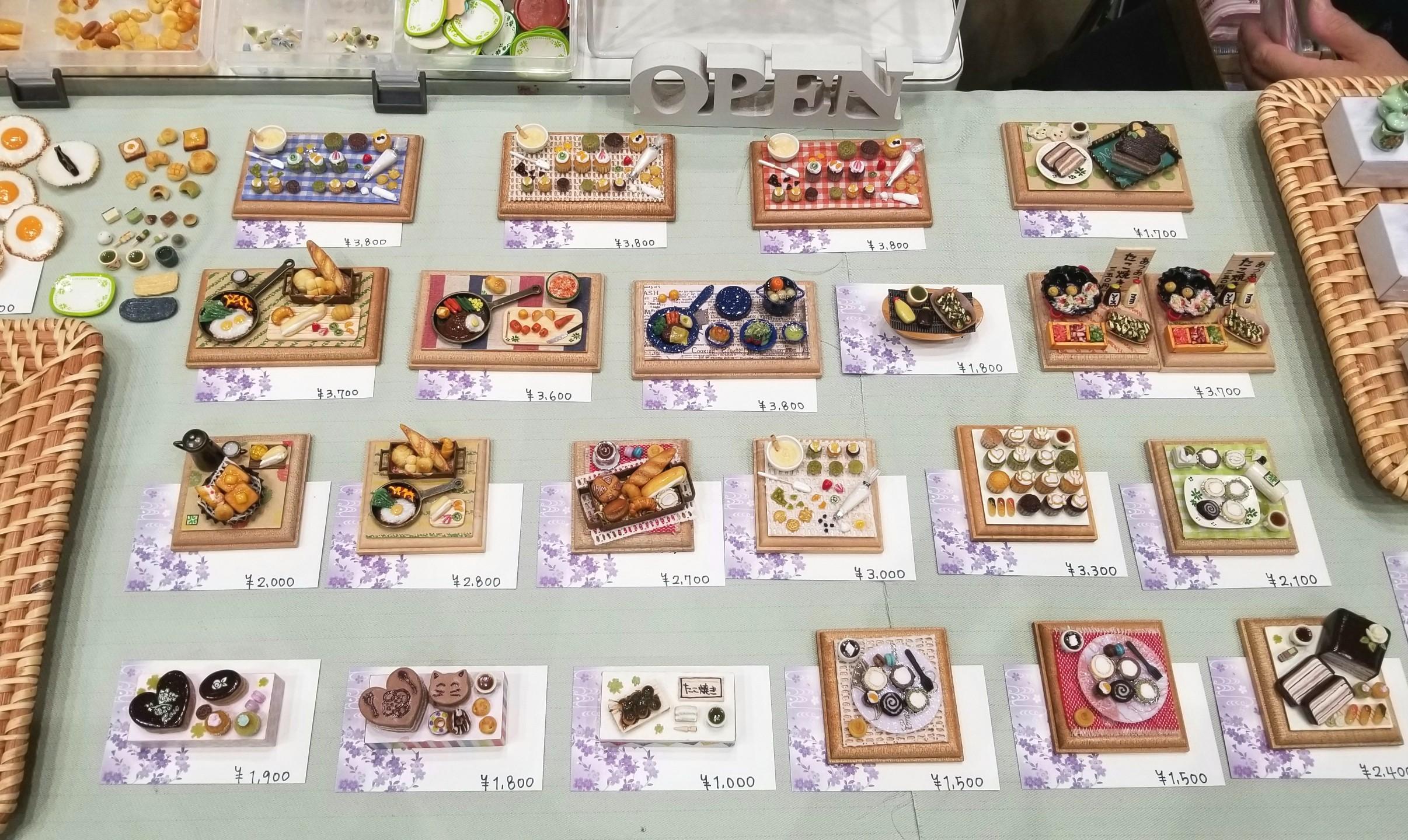 ミニチュアフード,ハンドメイドインジャパンフェス,食品サンプル