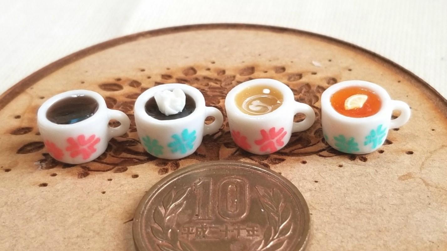 おしゃれな飲み物,ミニチュアフード,樹脂粘土,紅茶,ミンネで販売中