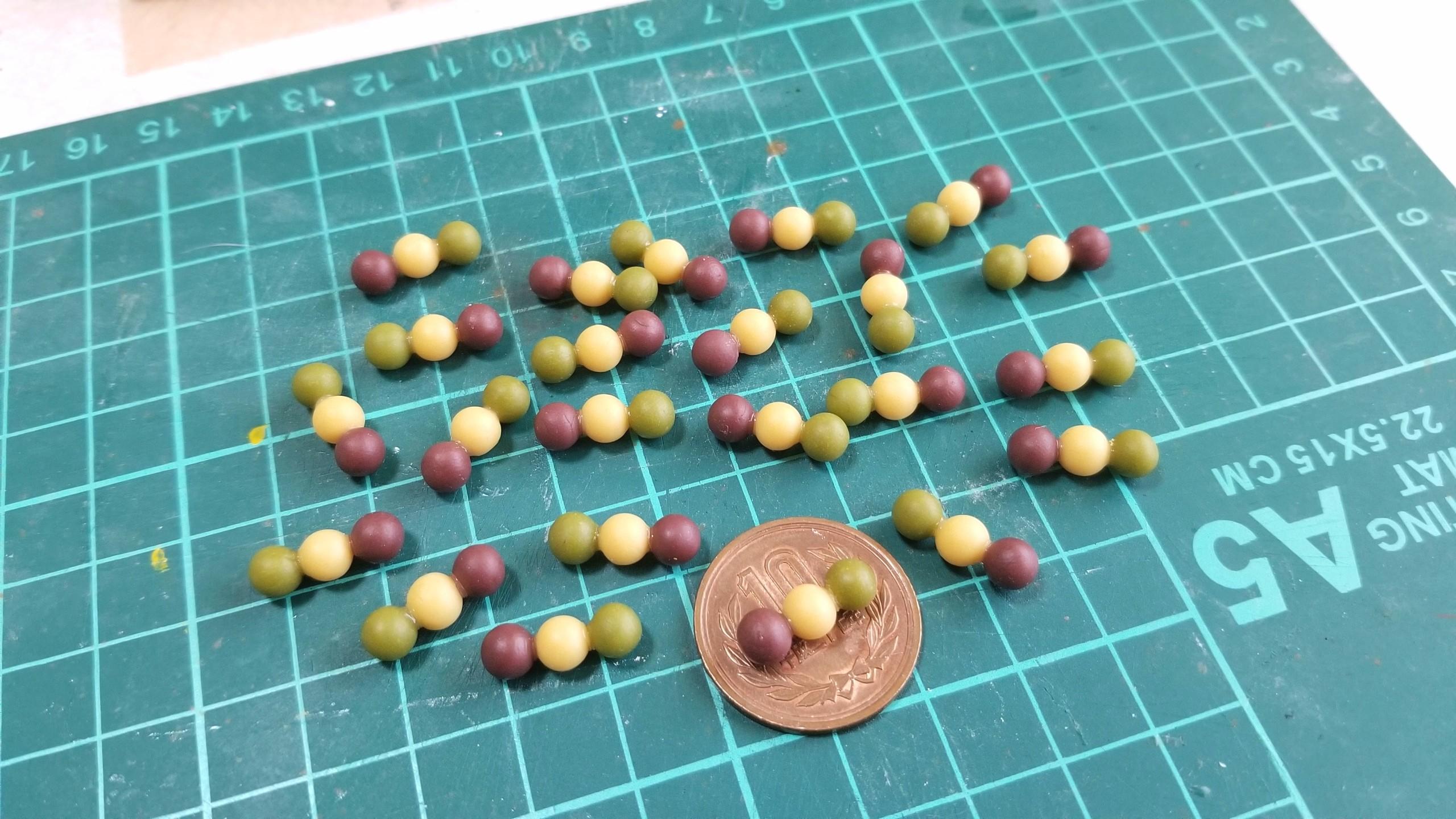 坊っちゃん団子,和菓子,作り方,ミニチュアフード,樹脂粘土,サンプル