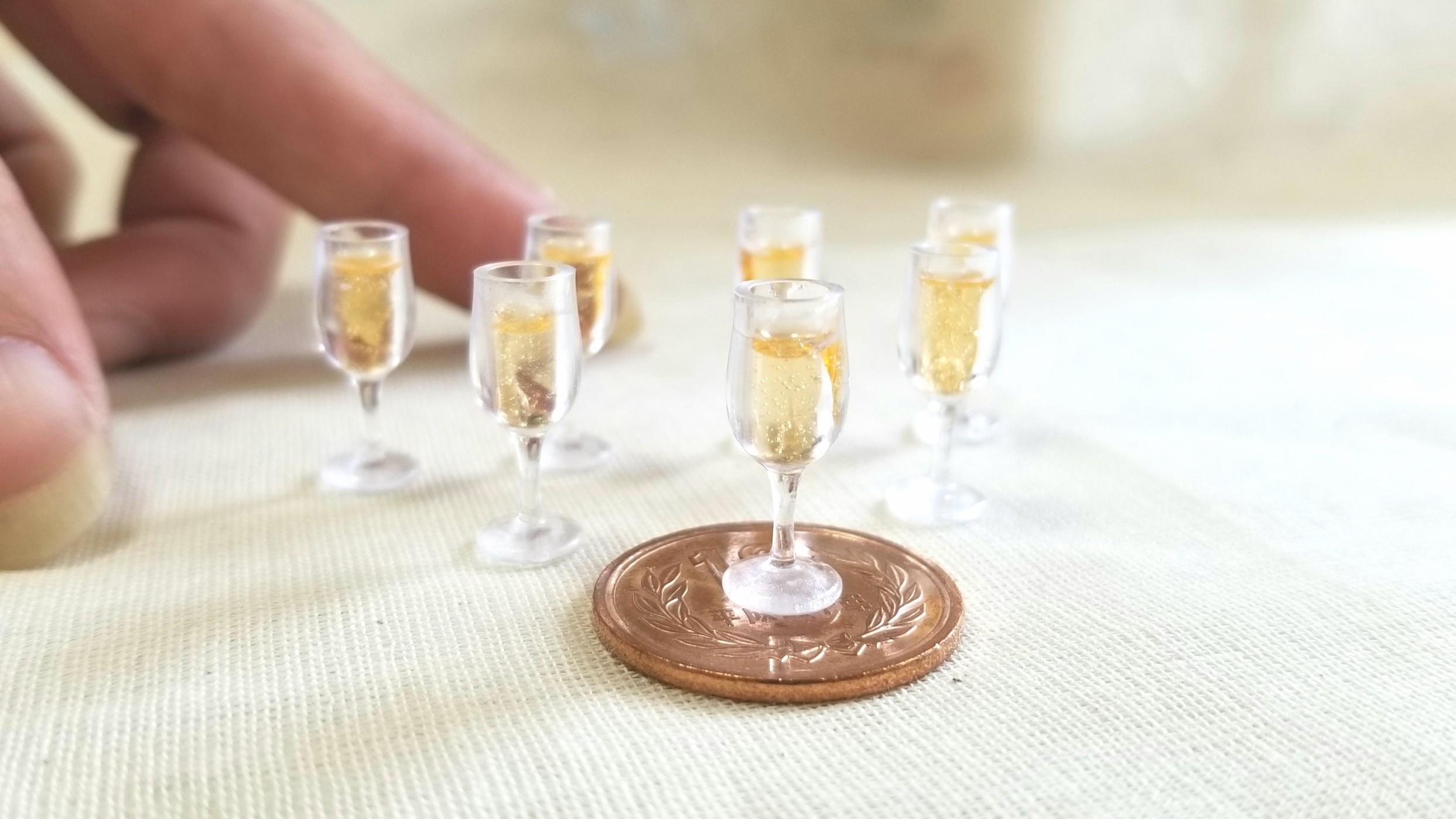 レジンアートミニチュアフード飲み物ドリンクシャンパンワイン販売