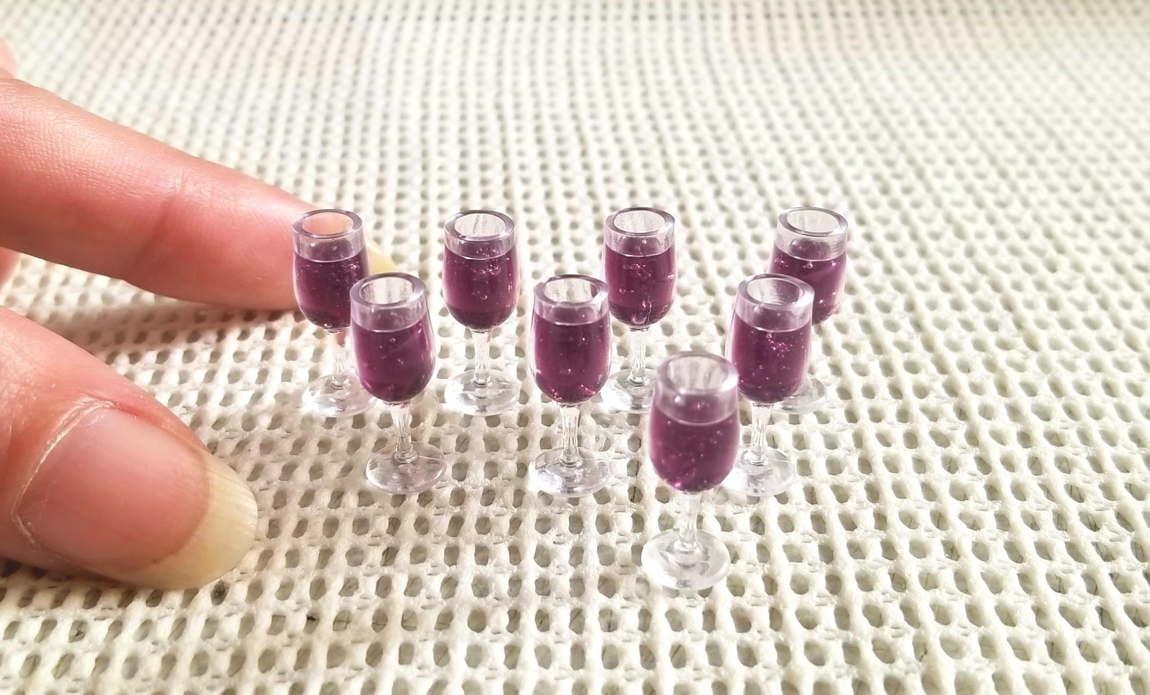 ジュース,赤ワイン,レジン,ミニチュア,ドールハウス,キューポッシュ